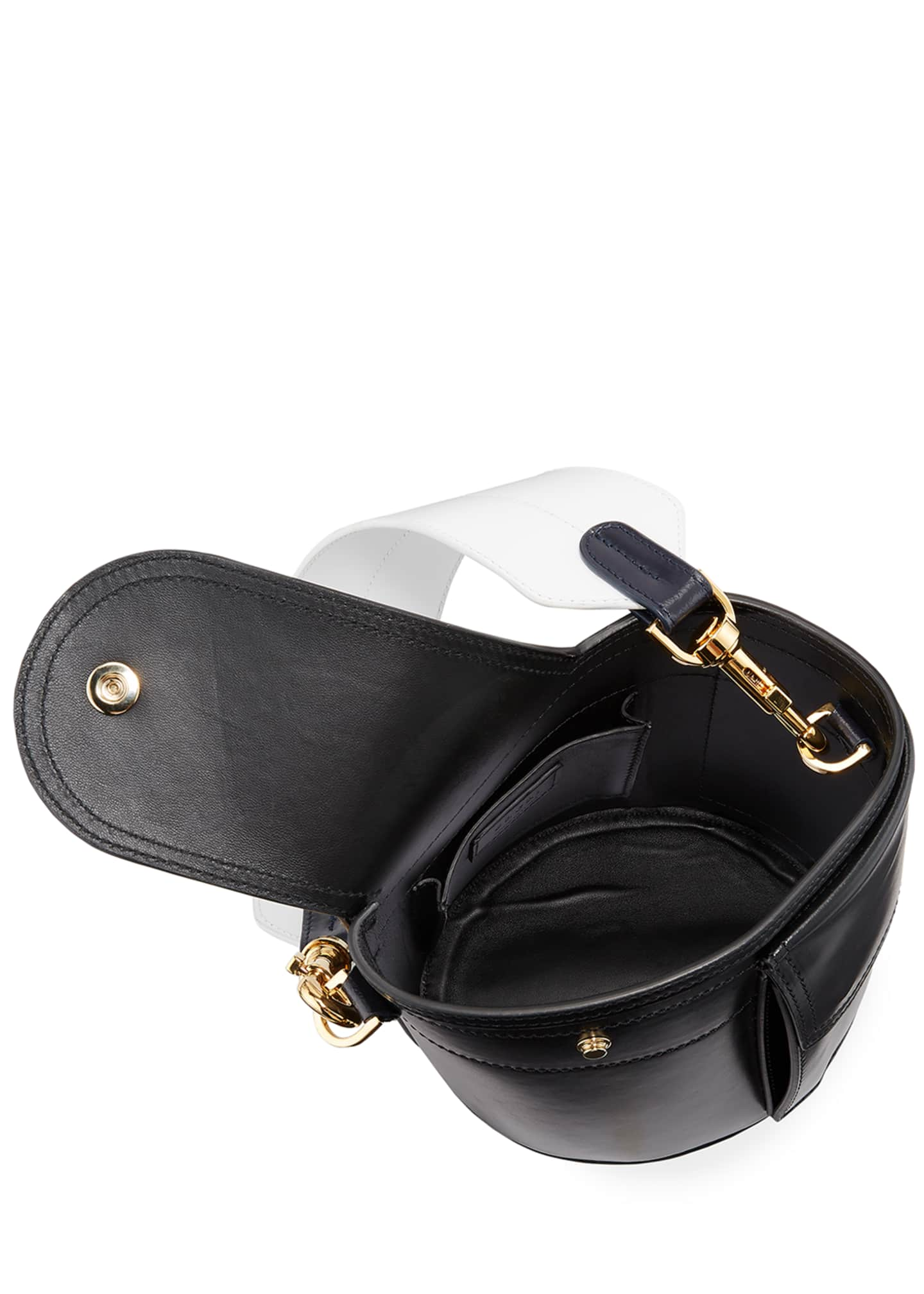 Image 2 of 4: Thermos Leather Bucket Bag