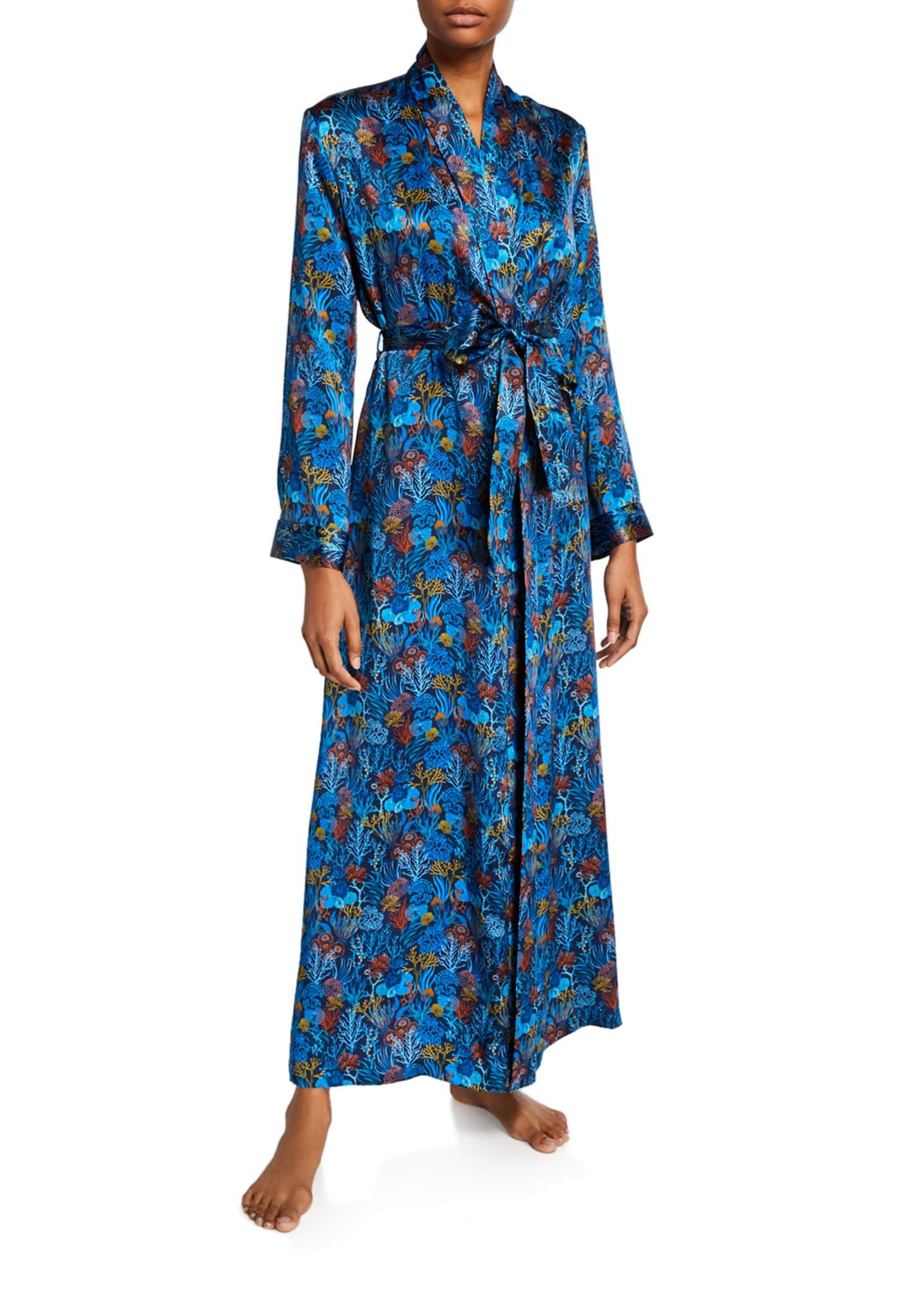 Derek Rose Brindisi Long Silk Robe