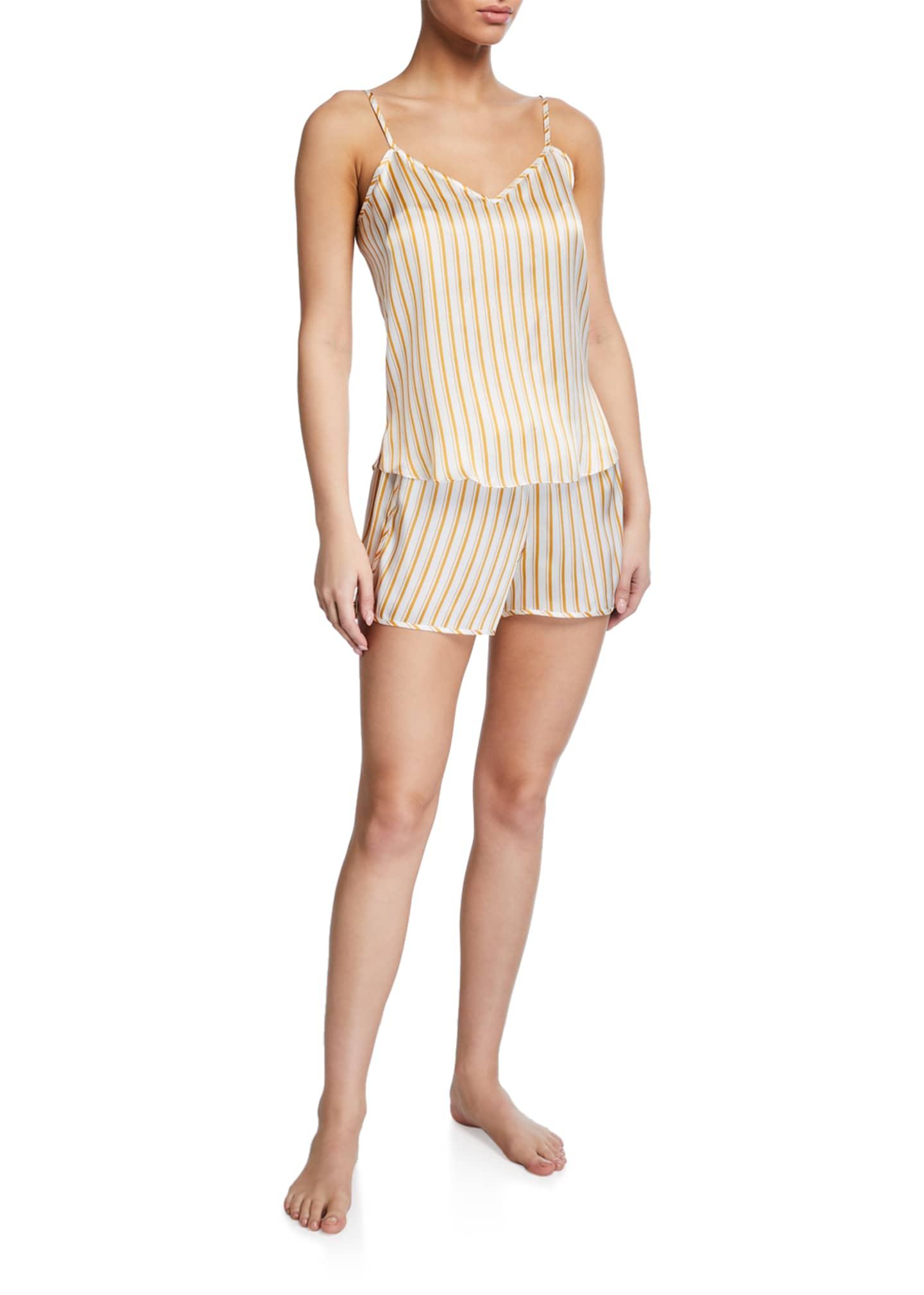 Derek Rose Brindisi Striped Camisole and Shorts Set