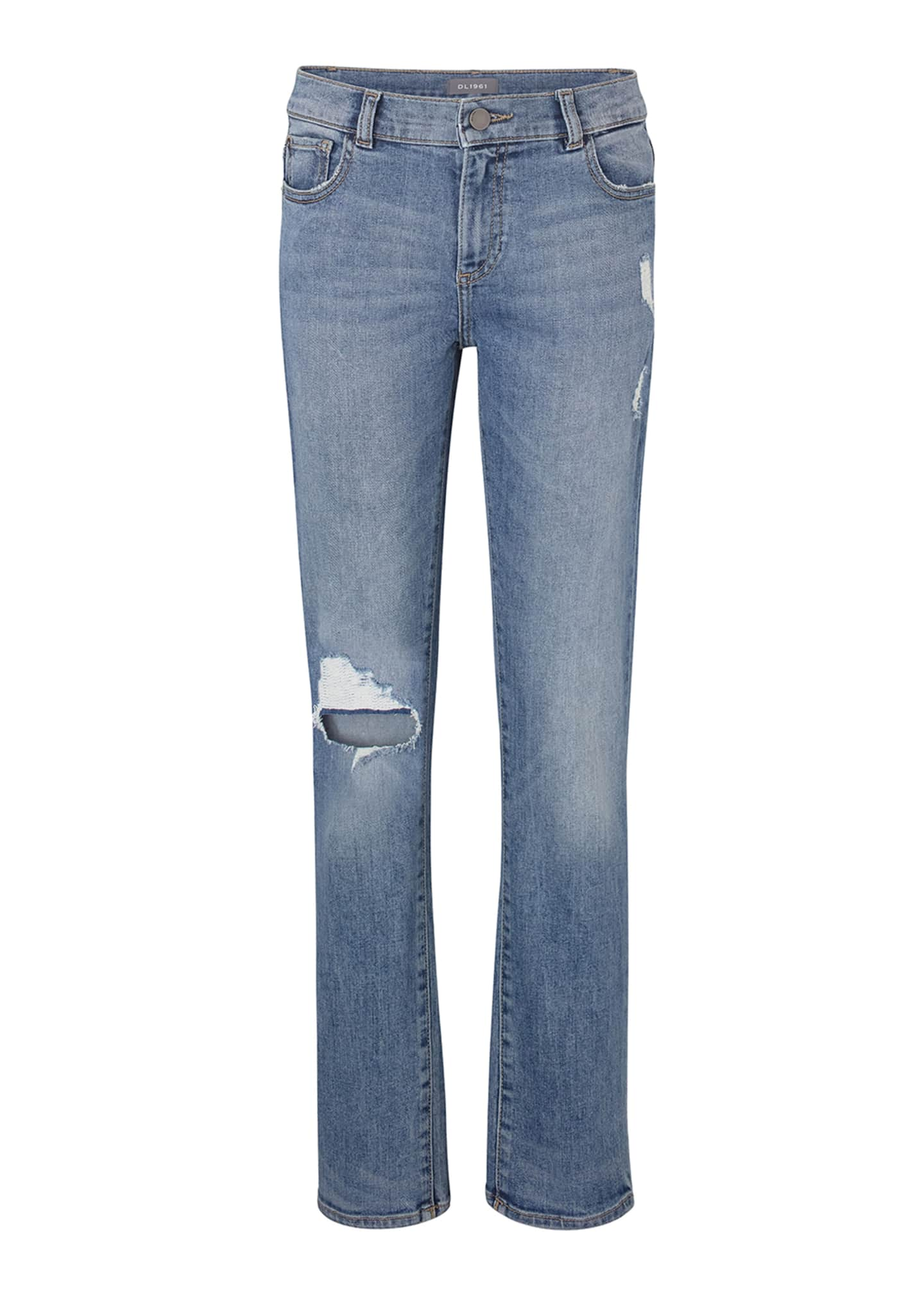 DL 1961 Boys' Hawke Skinny Ripped Straight-Leg Jeans,