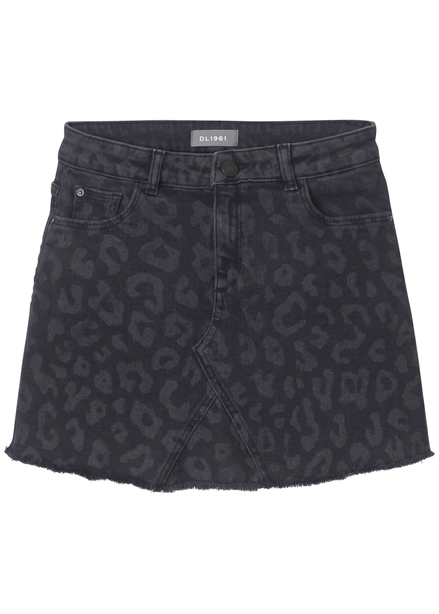DL 1961 Jenny Tonal Leopard-Print Skirt, Size 7-16