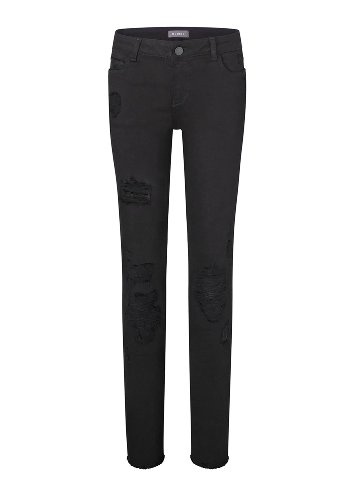 DL 1961 Girls' Chloe Nightstar Distressed Skinny Jeans,