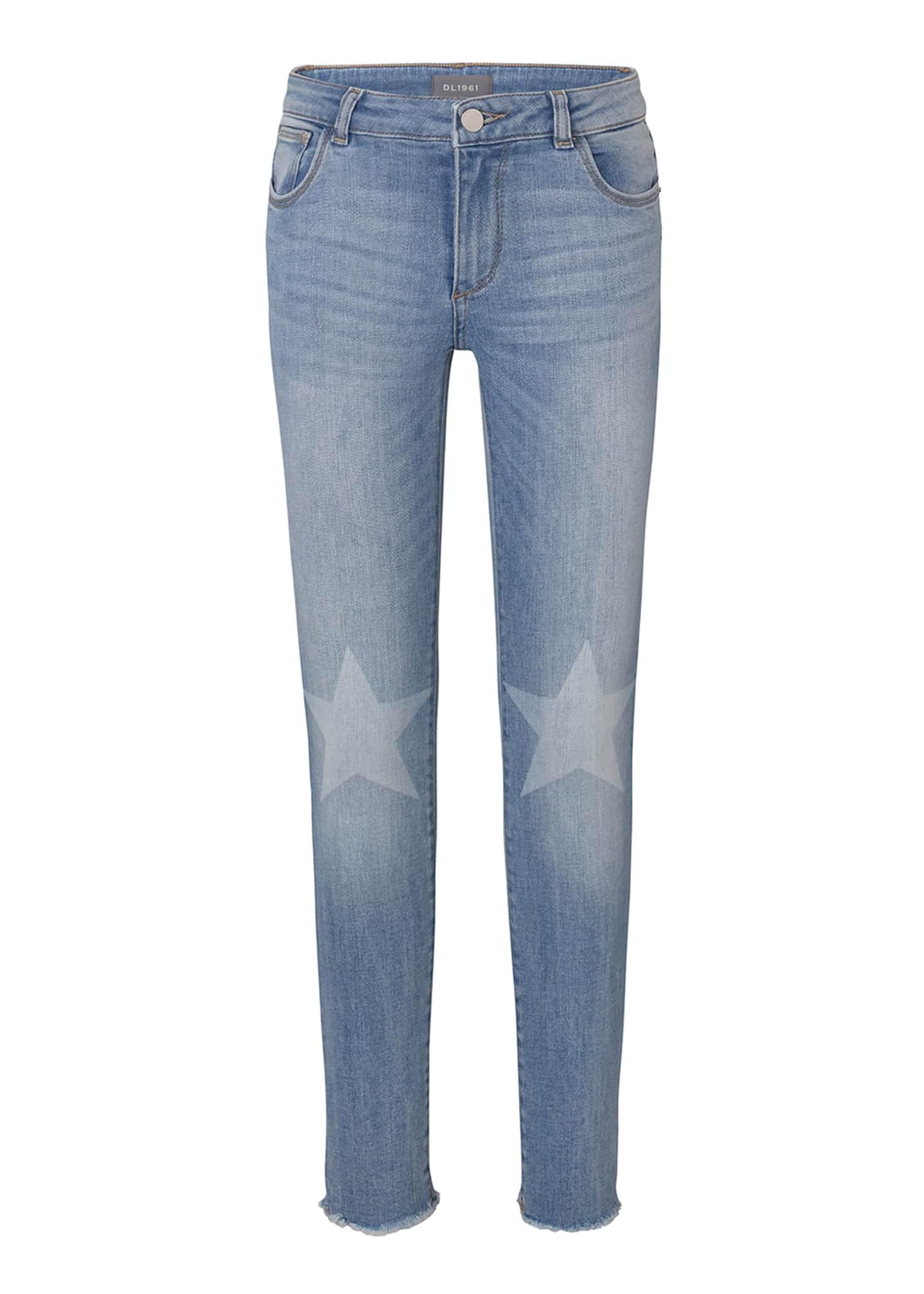 DL 1961 Chloe Skinny Jeans w/ Contrast Knee