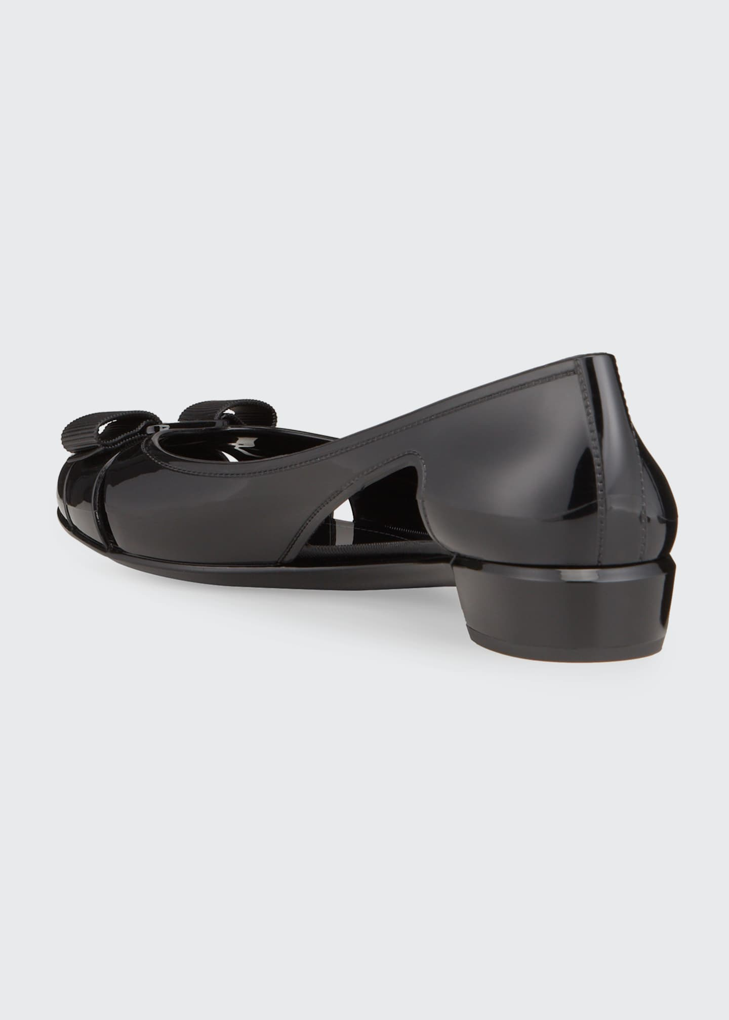 Image 3 of 4: Jelly Cutout Vara Bow Flat
