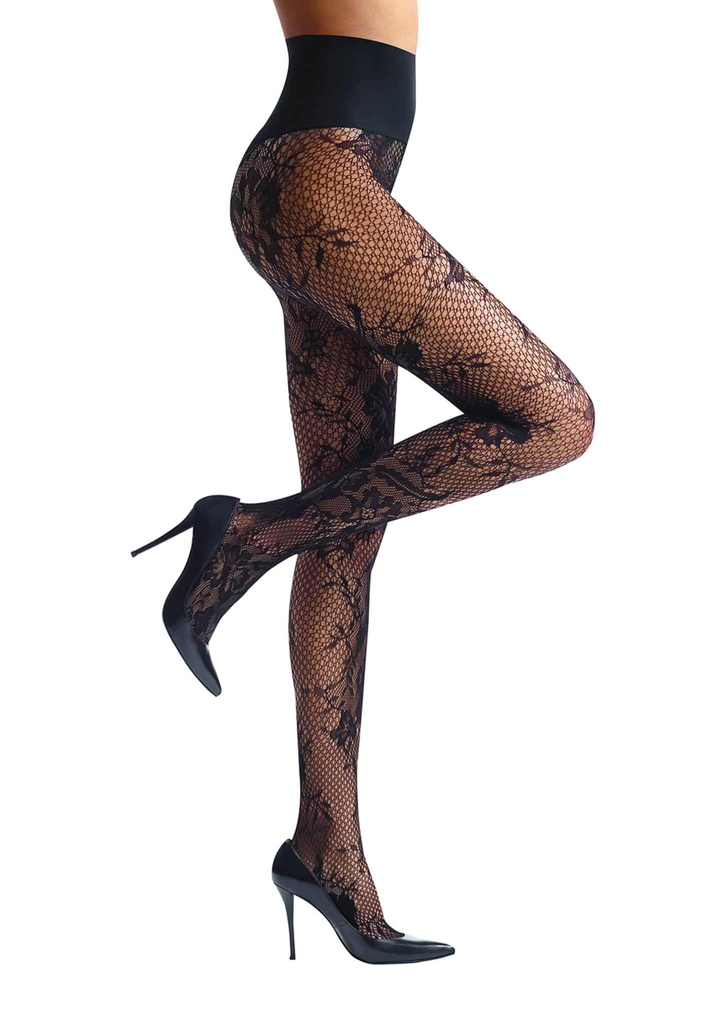 Commando Floral Net Tights