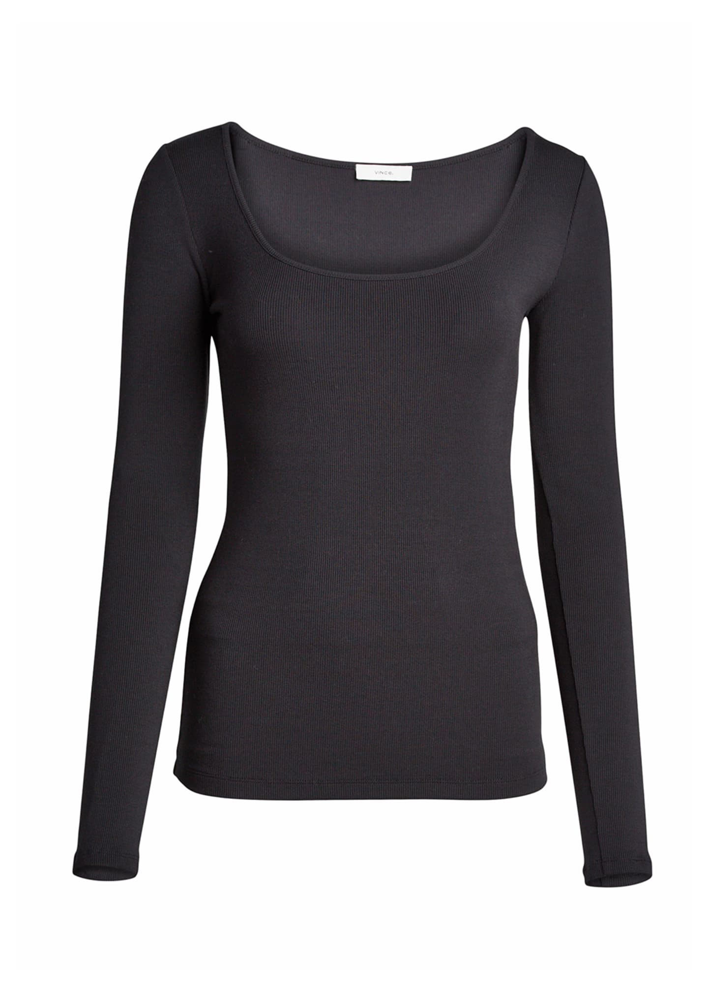 Image 5 of 5: Deep Scoop Neck Long-Sleeve Top