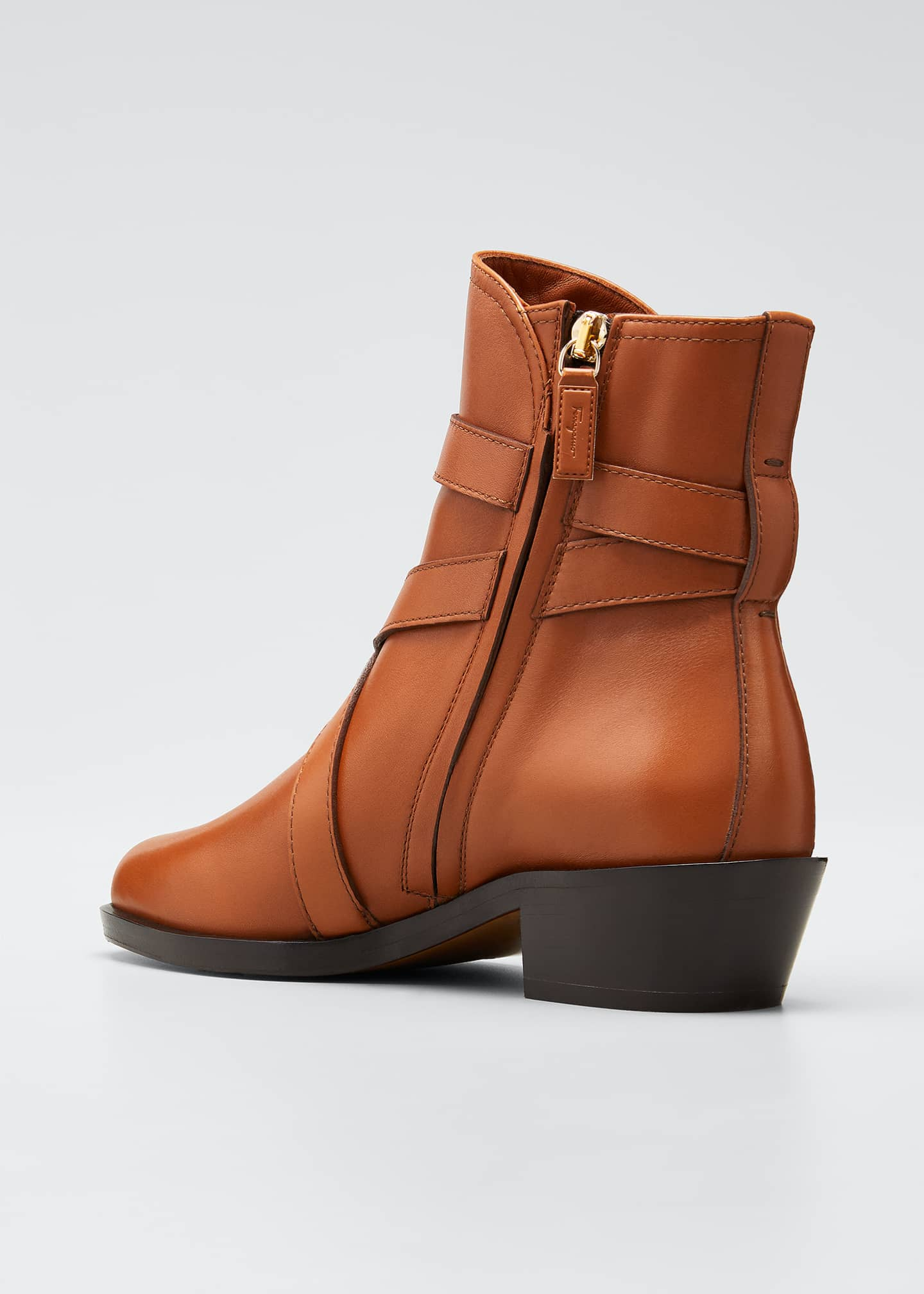 Image 2 of 3: Shadi Strap Leather Zip Booties
