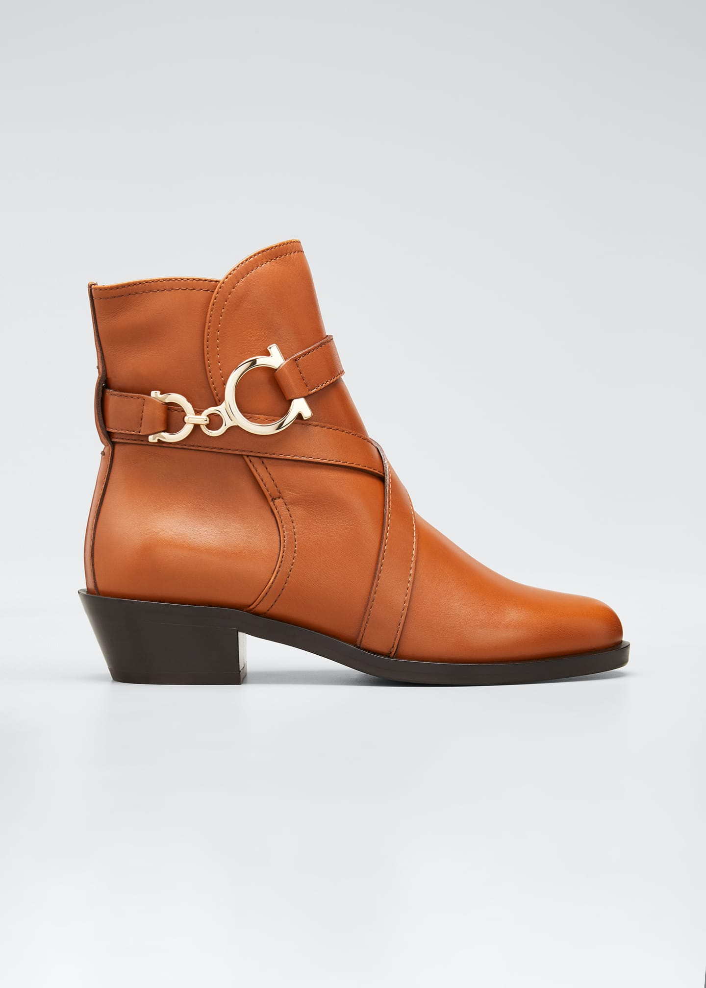 Image 1 of 3: Shadi Strap Leather Zip Booties