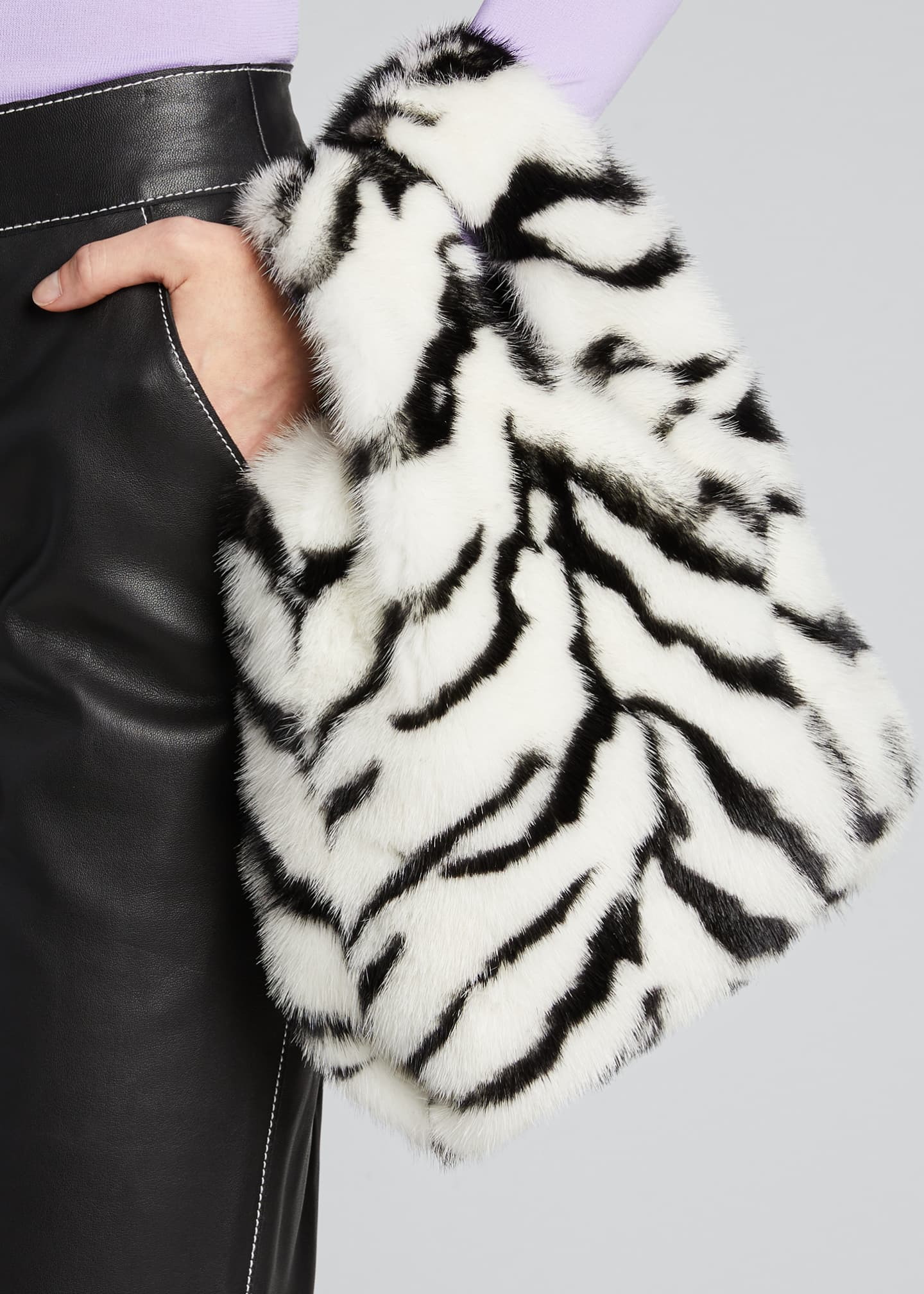 Image 2 of 5: Furrissima Mink Tiger Tote Bag