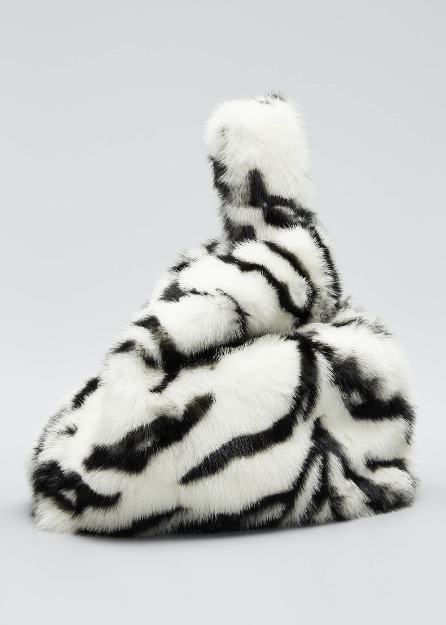 Image 3 of 5: Furrissima Mink Tiger Tote Bag