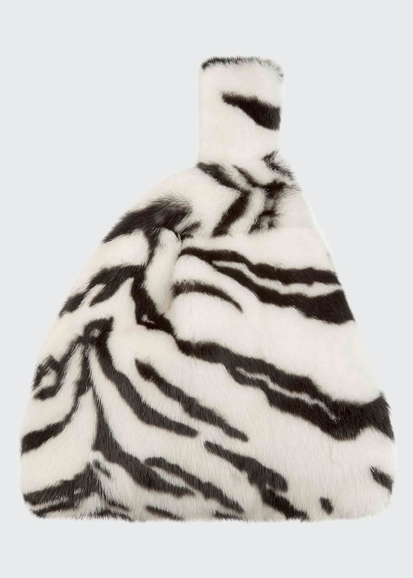 Image 1 of 5: Furrissima Mink Tiger Tote Bag