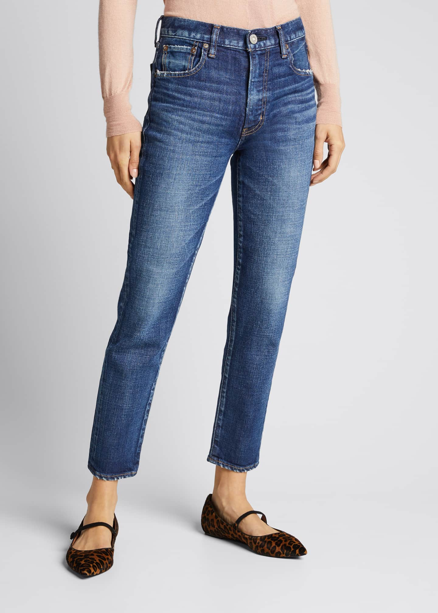 Image 3 of 5: Cameron Dark-Wash Skinny Jeans