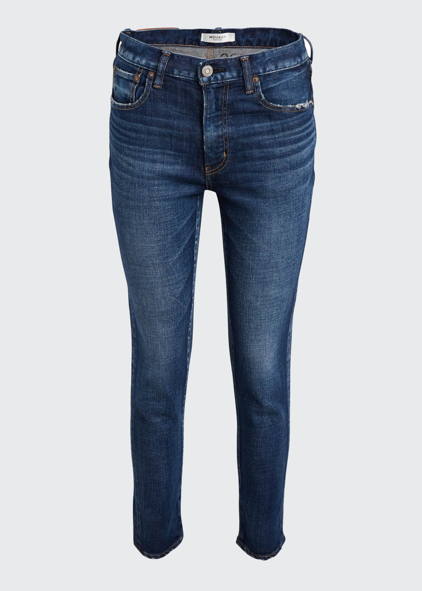 Image 5 of 5: Cameron Dark-Wash Skinny Jeans