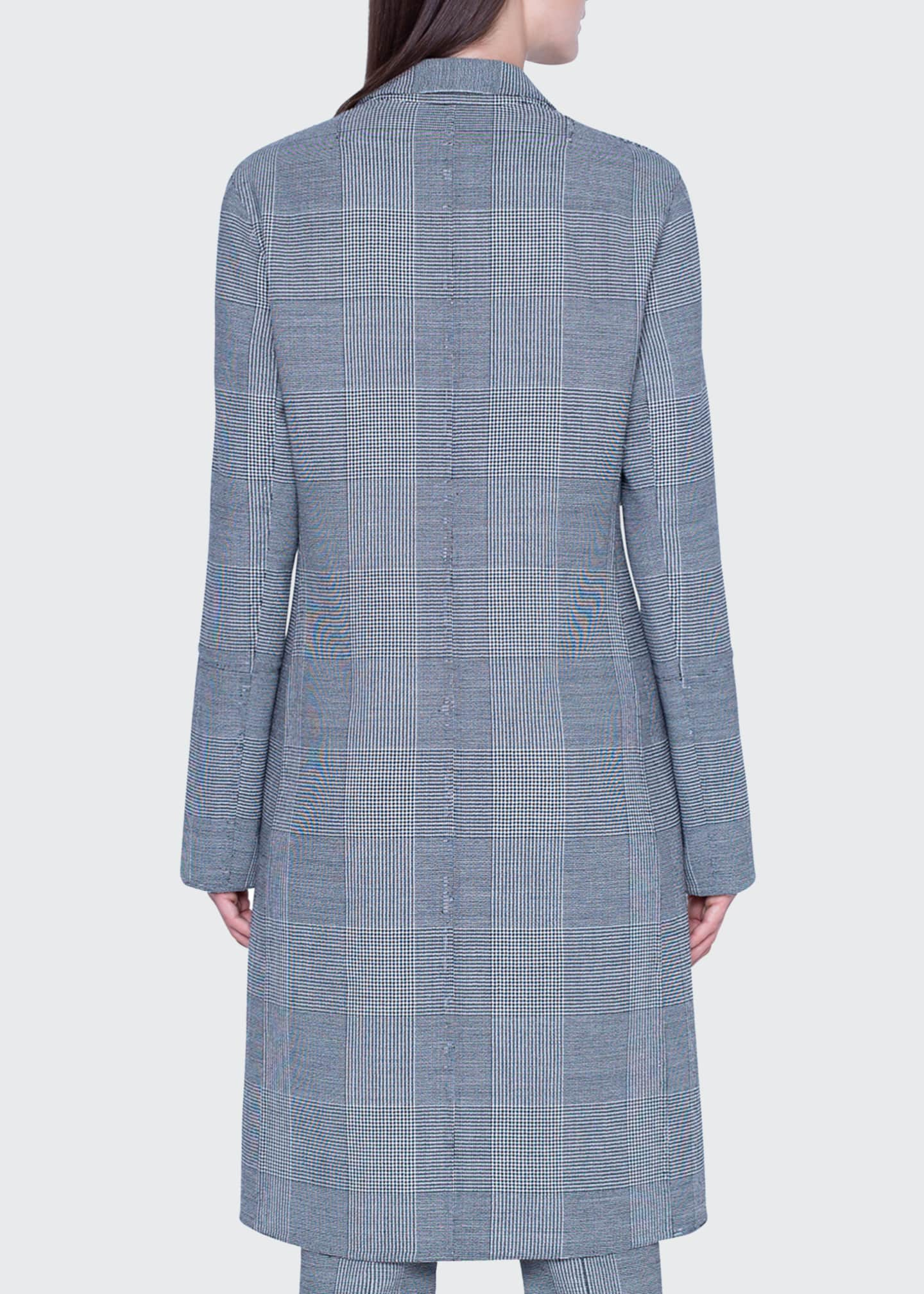 Image 2 of 4: Wool Plaid-Lined Coat