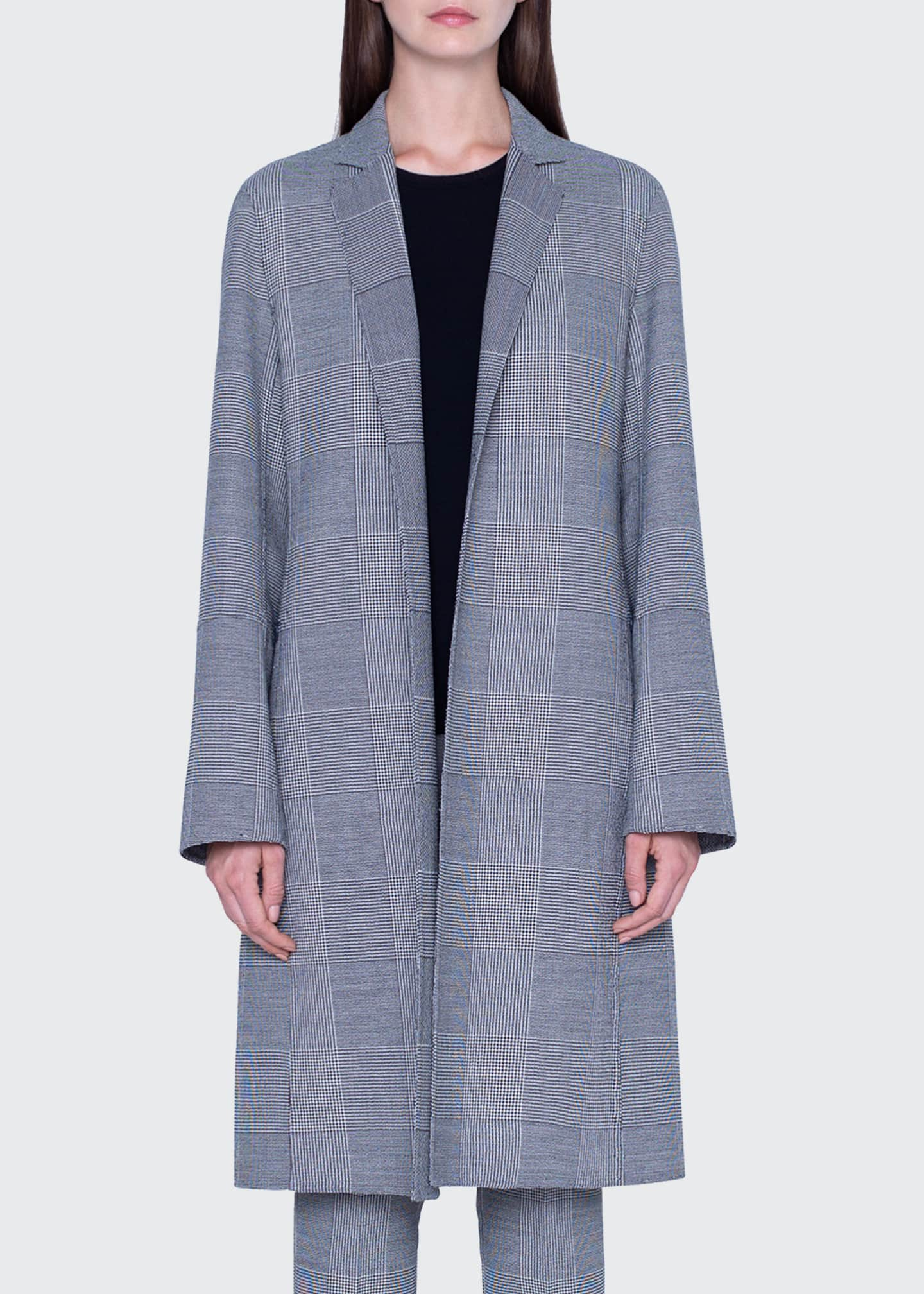 Image 4 of 4: Wool Plaid-Lined Coat