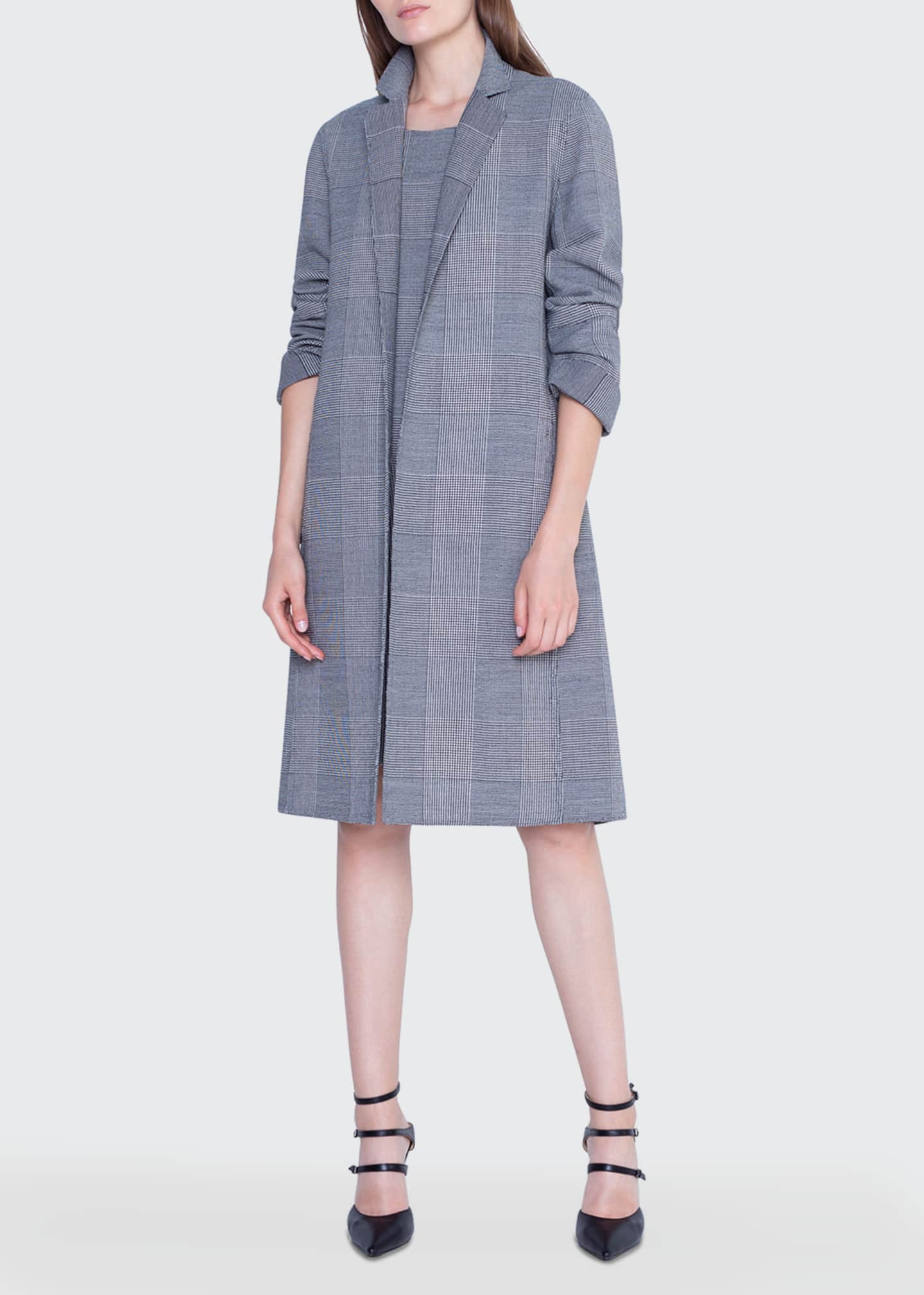 Image 1 of 4: Wool Plaid-Lined Coat