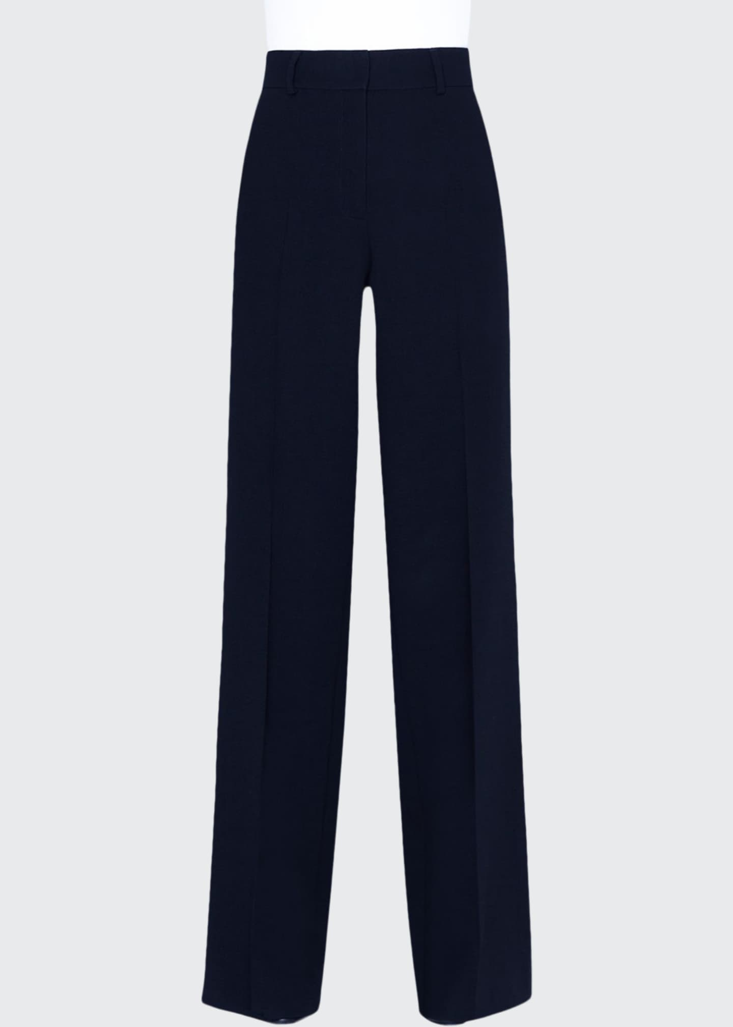 Akris Flore Wool Wide-Leg Pants