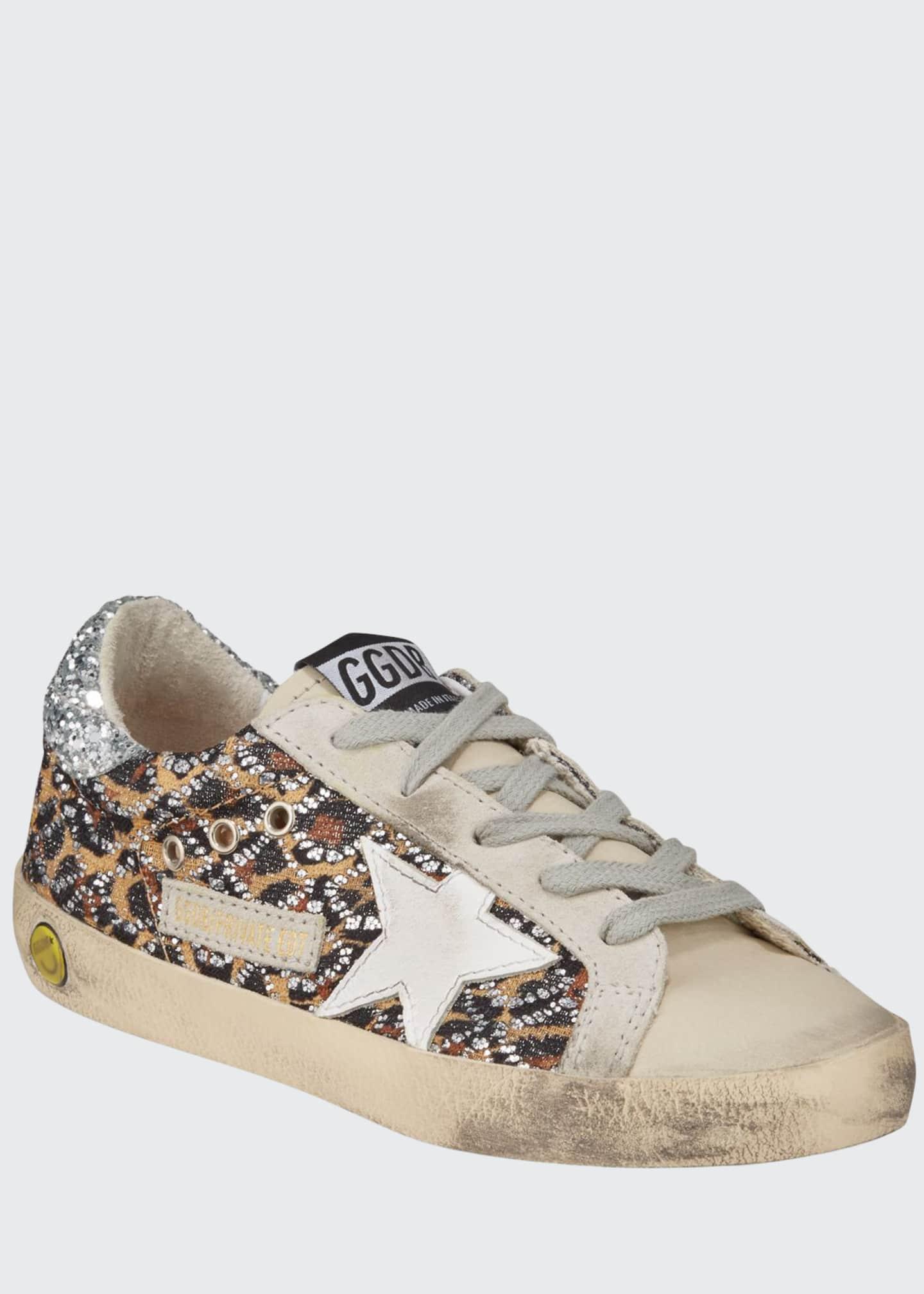Golden Goose Superstar Leopard Embellished Sneakers, Toddler/Kids