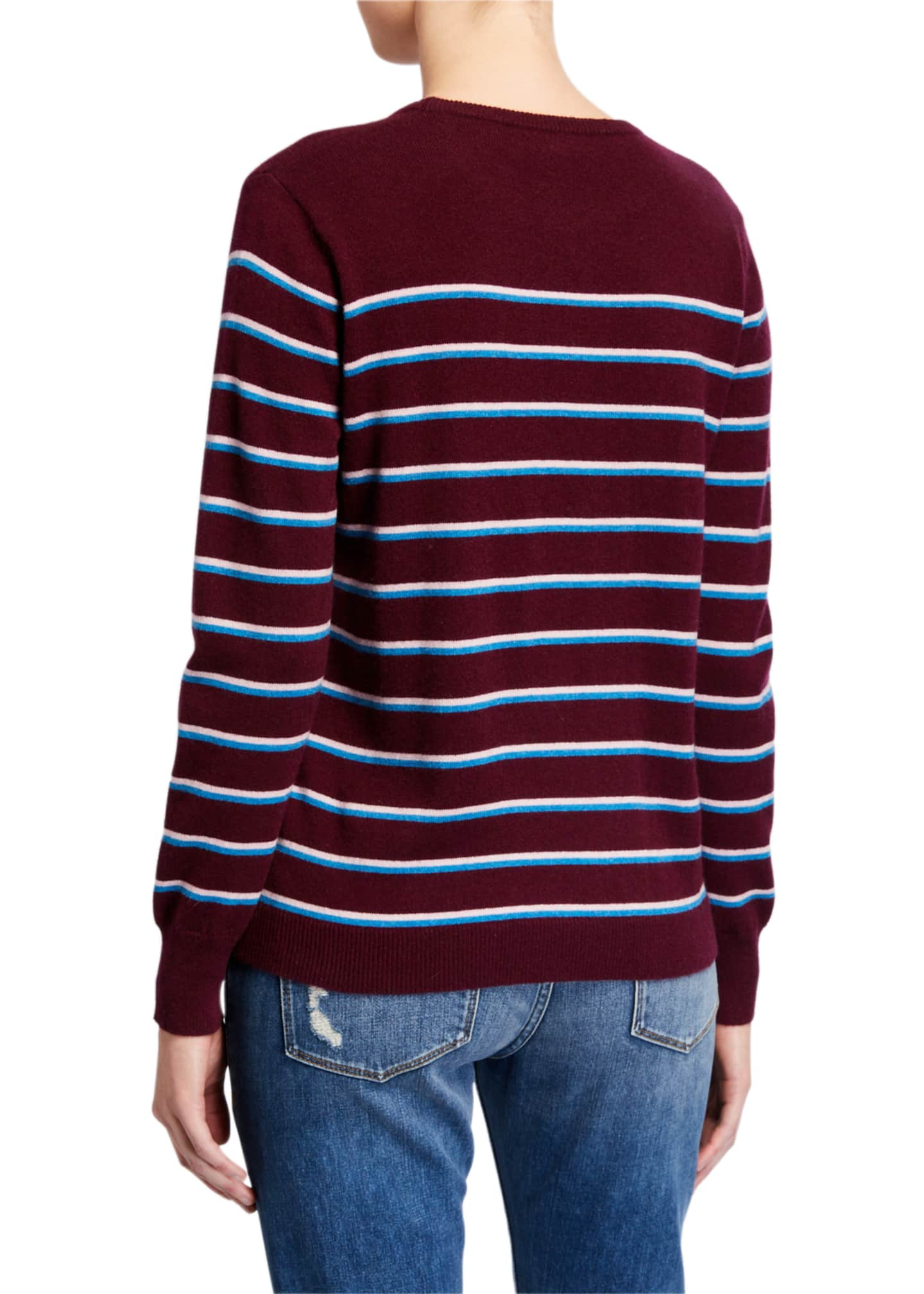 Image 2 of 4: The Samara Striped Crewneck Sweater
