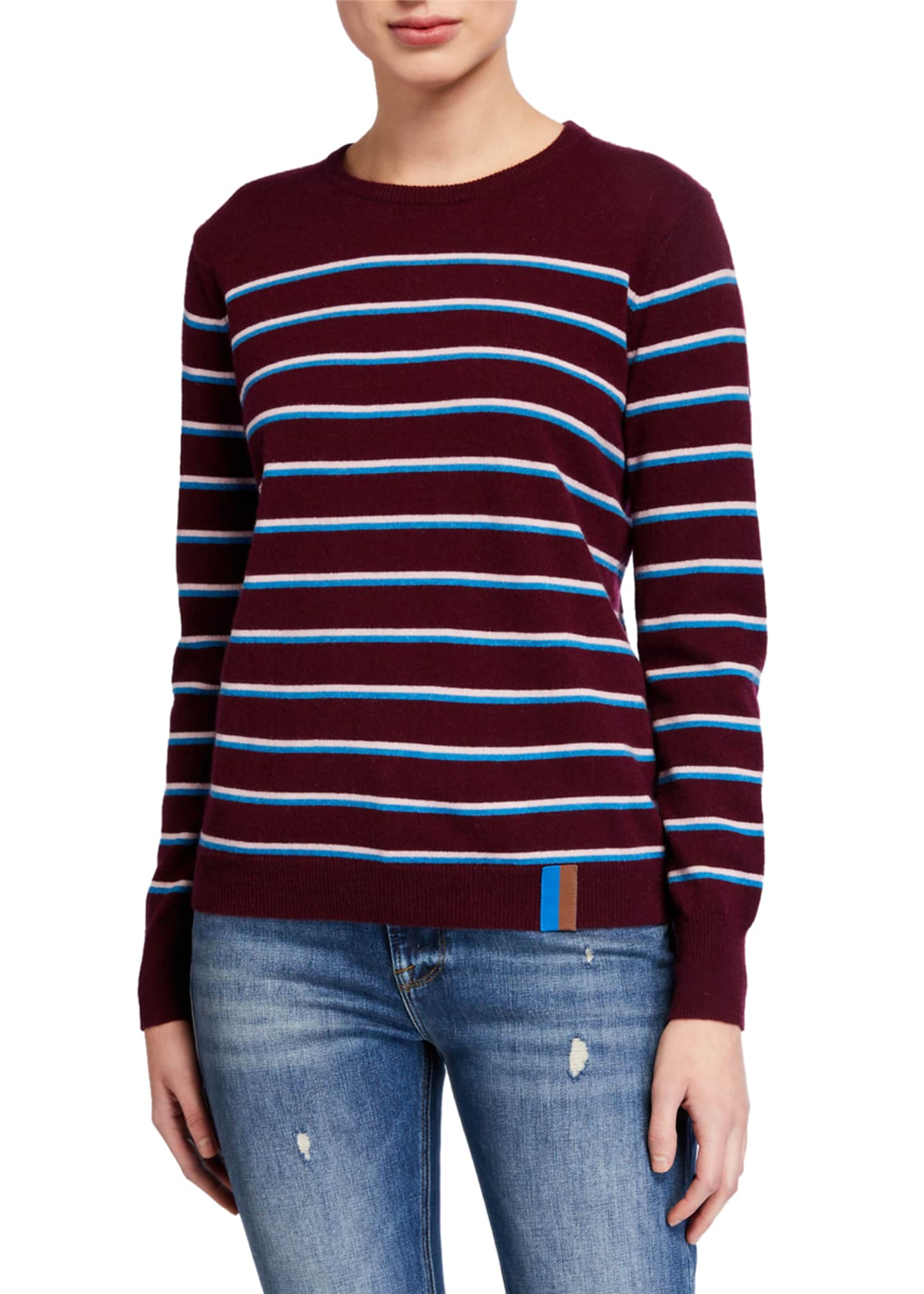 Image 1 of 4: The Samara Striped Crewneck Sweater