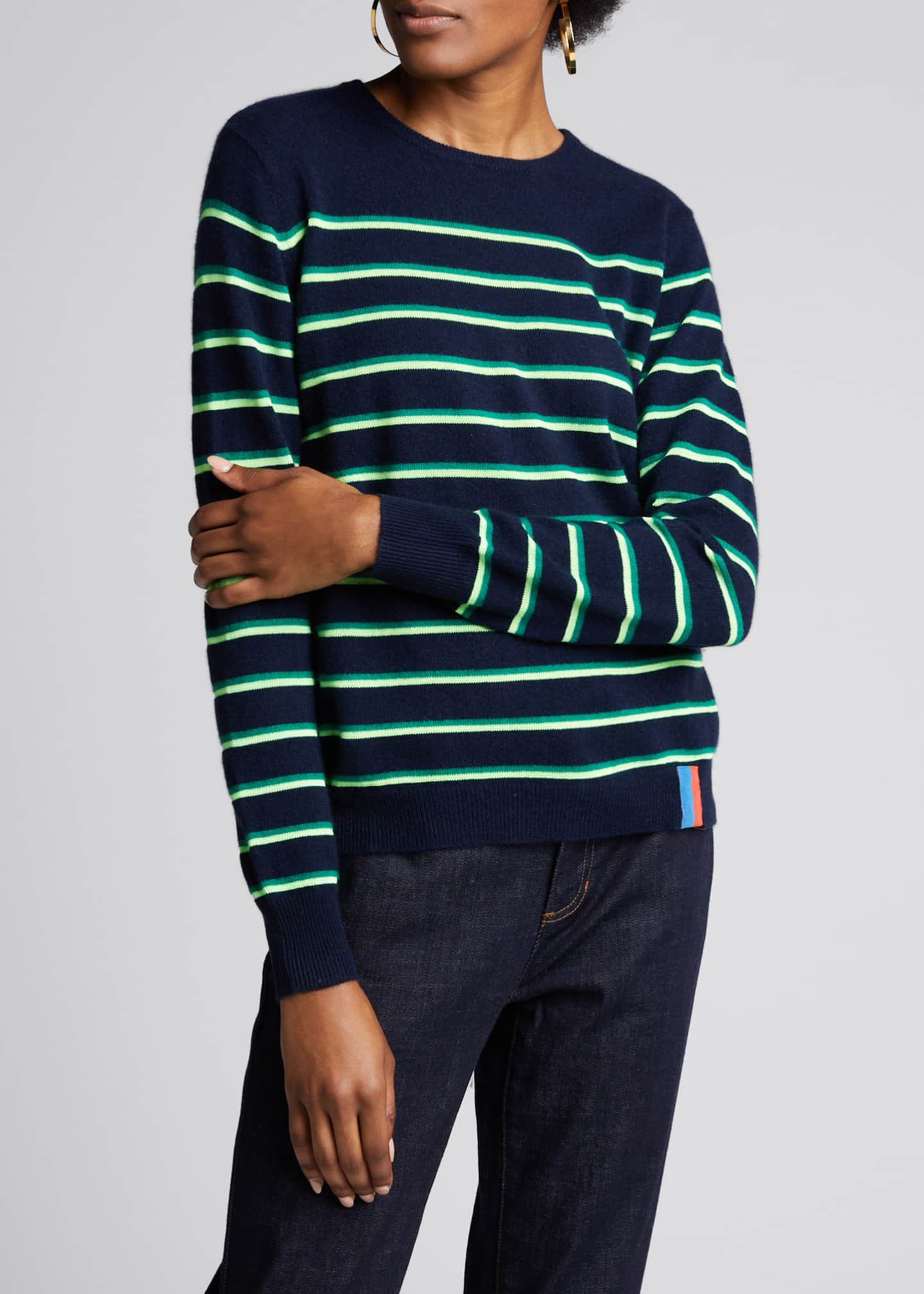 Image 3 of 4: The Samara Striped Crewneck Sweater