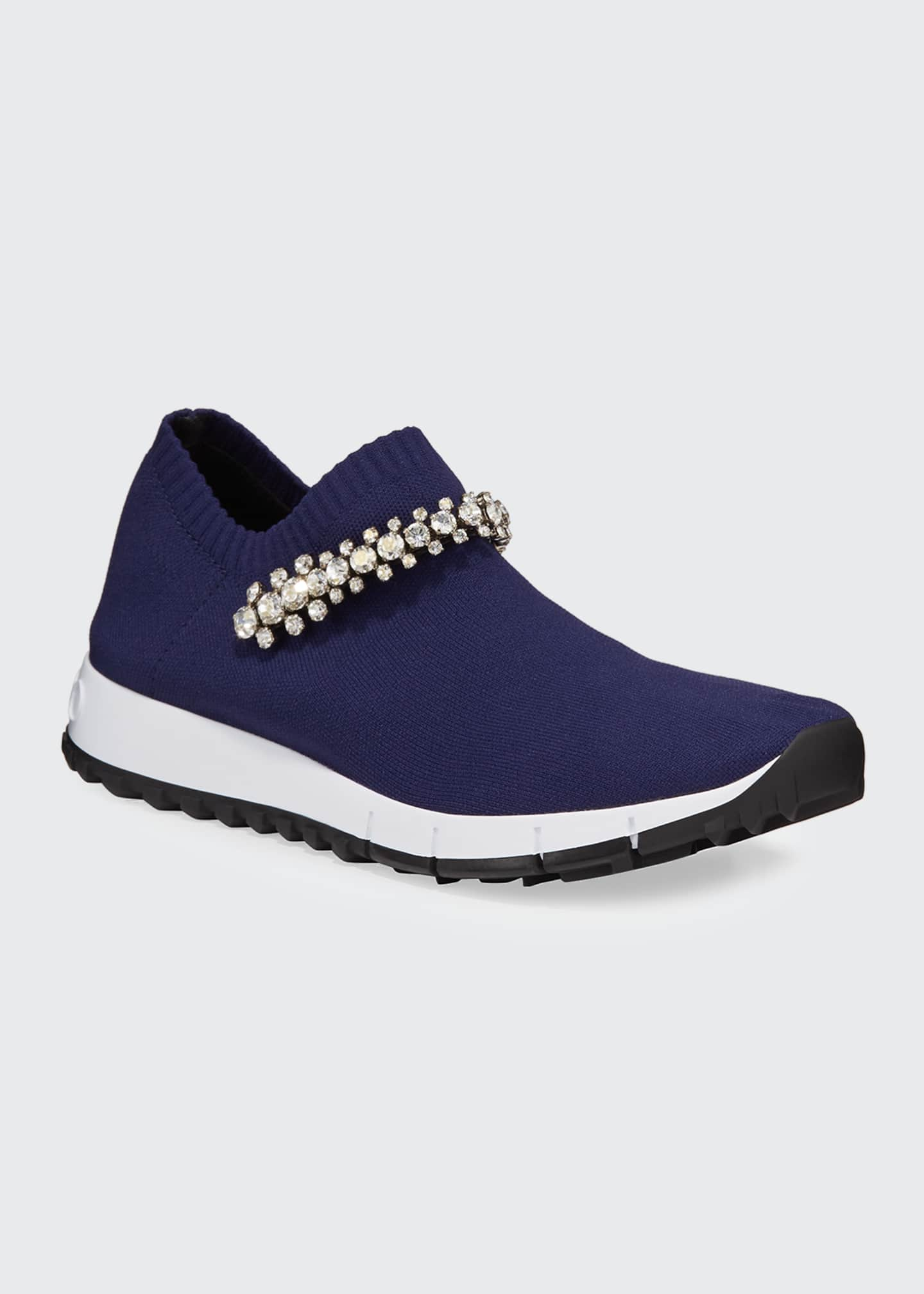 Image 2 of 5: Verona Knit Crystal-Strap Sneakers