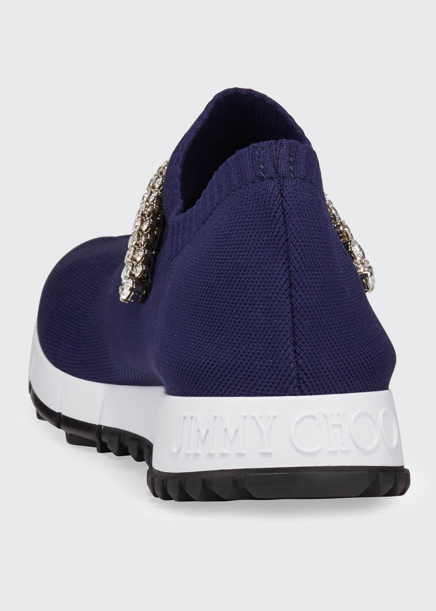 Image 4 of 5: Verona Knit Crystal-Strap Sneakers