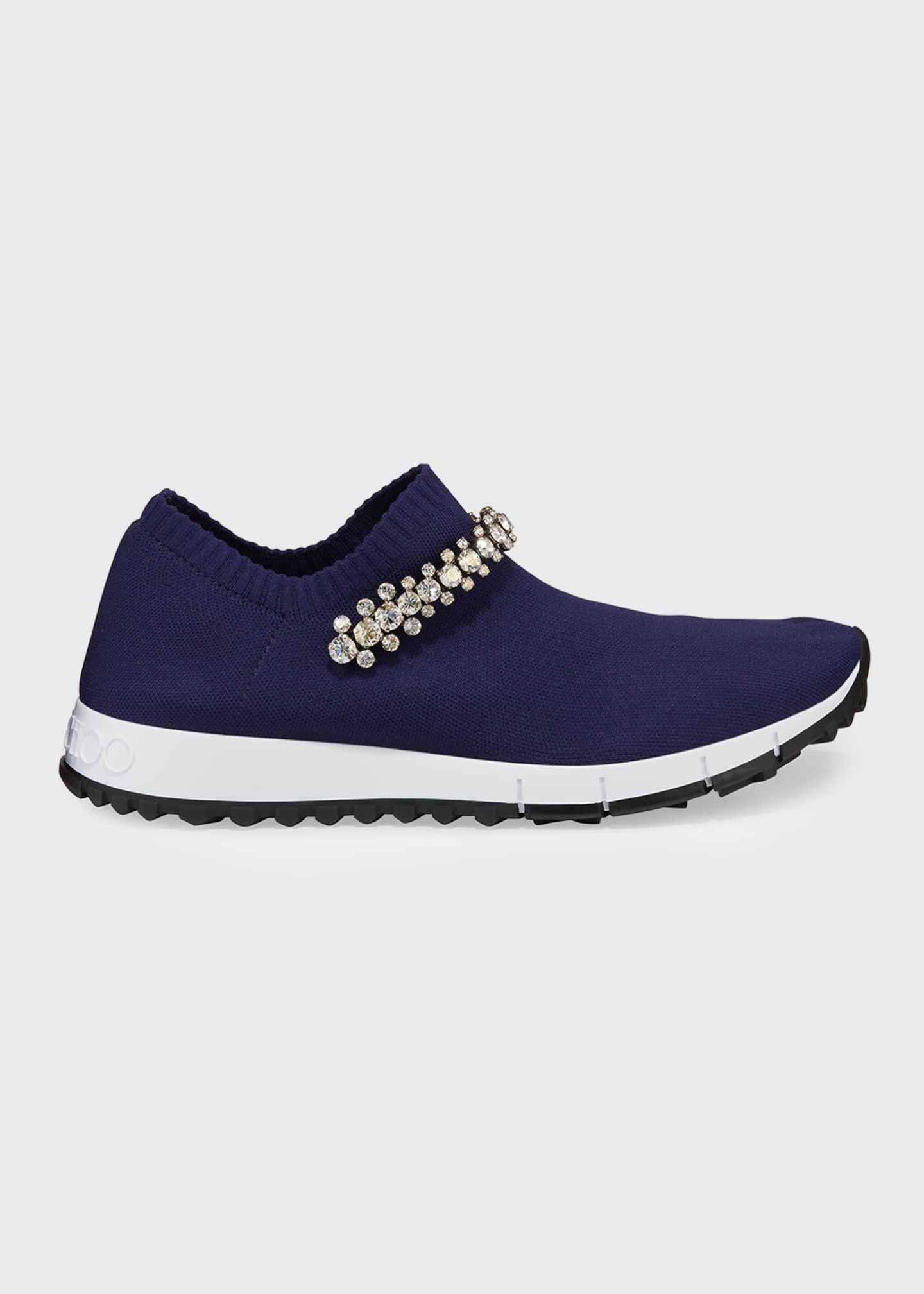 Image 1 of 5: Verona Knit Crystal-Strap Sneakers