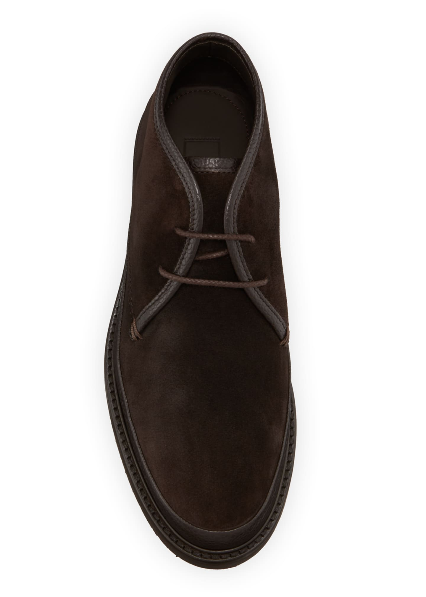 Image 2 of 3: Men's Trivero Suede Chukka Boots with Mud Guard