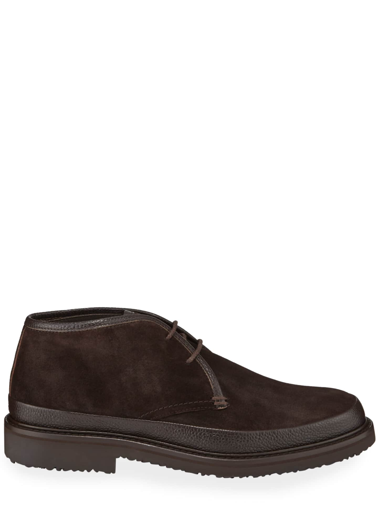 Image 3 of 3: Men's Trivero Suede Chukka Boots with Mud Guard