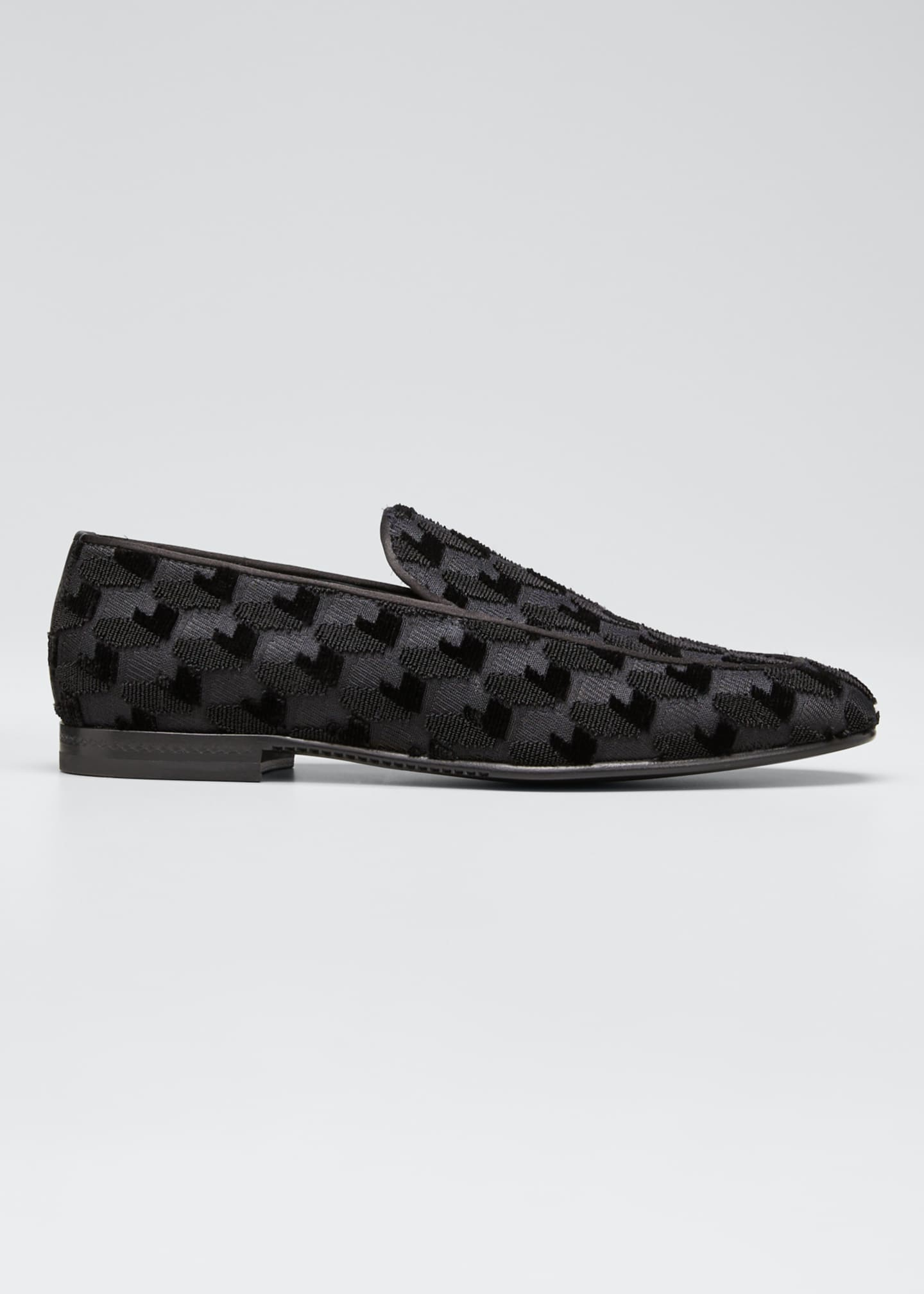 Ermenegildo Zegna Men's Lido Textured Evening Loafers