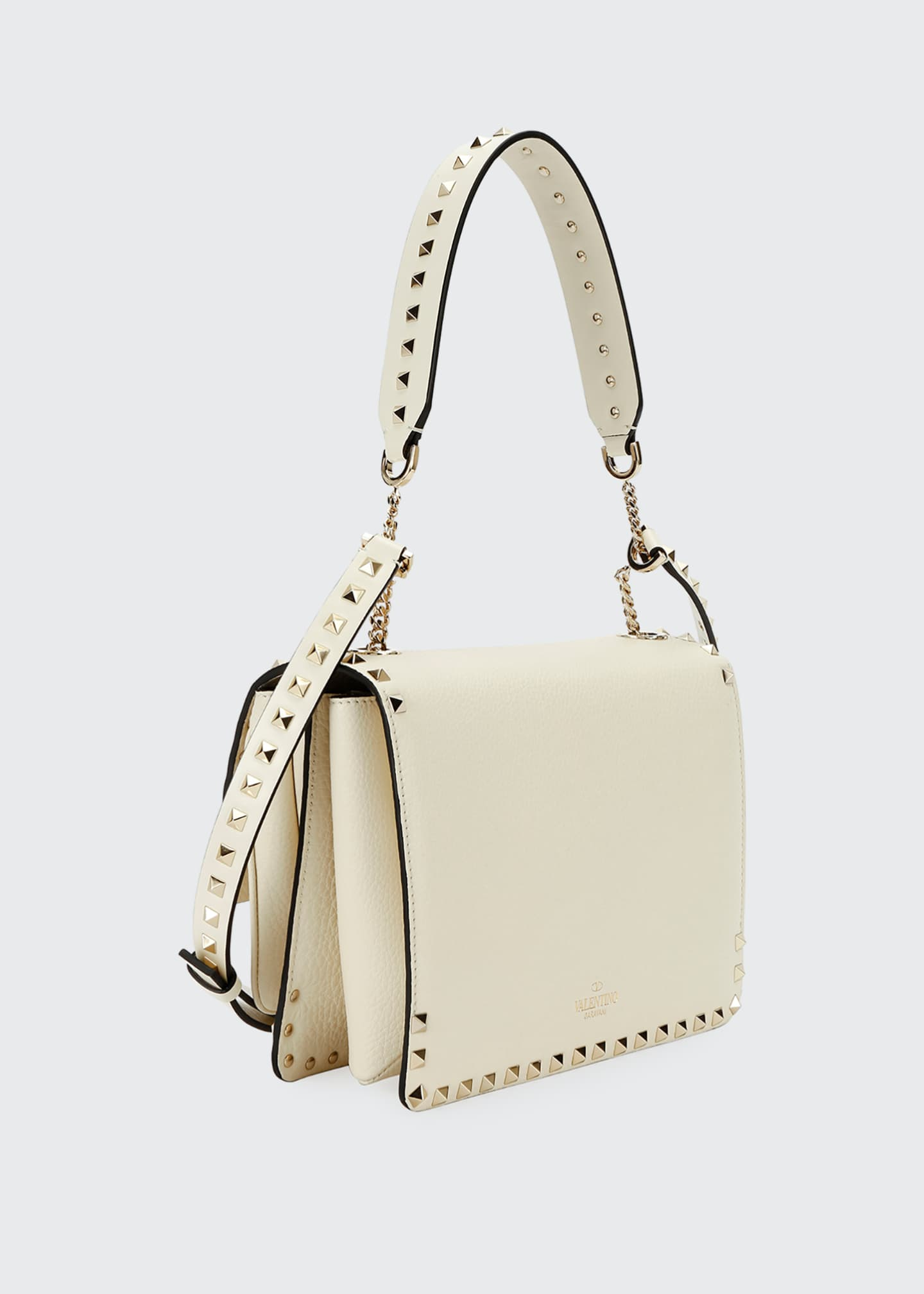 Image 2 of 3: Rockstud Vitello Alce Box Shoulder Bag