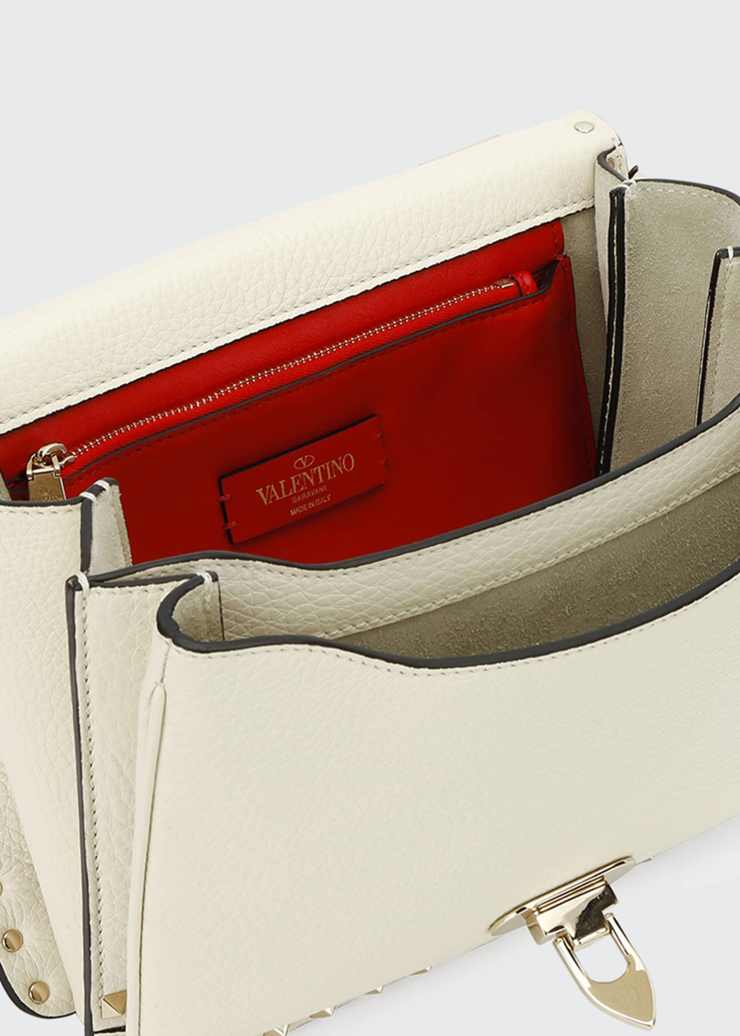 Image 3 of 3: Rockstud Vitello Alce Box Shoulder Bag