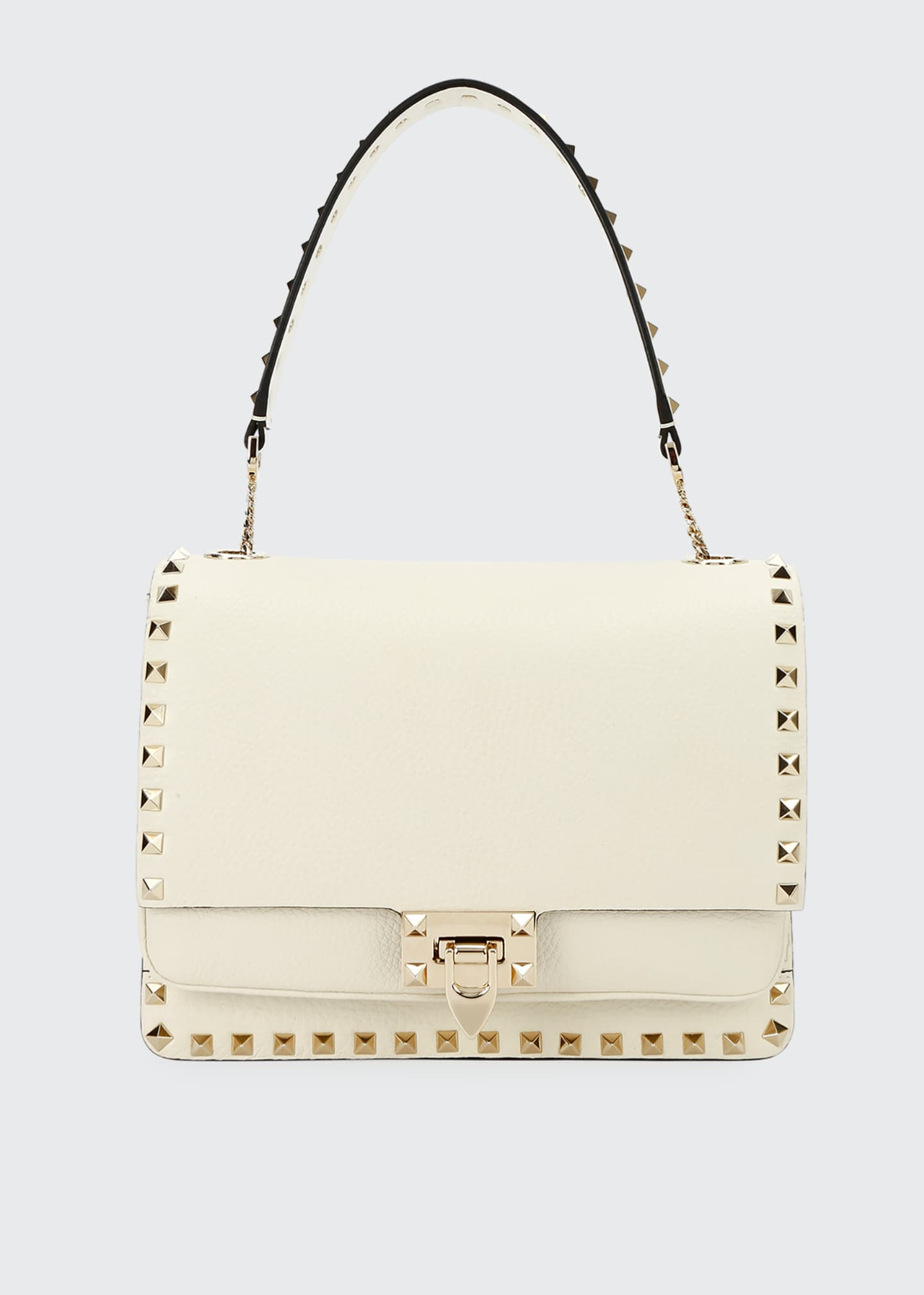 Image 1 of 3: Rockstud Vitello Alce Box Shoulder Bag