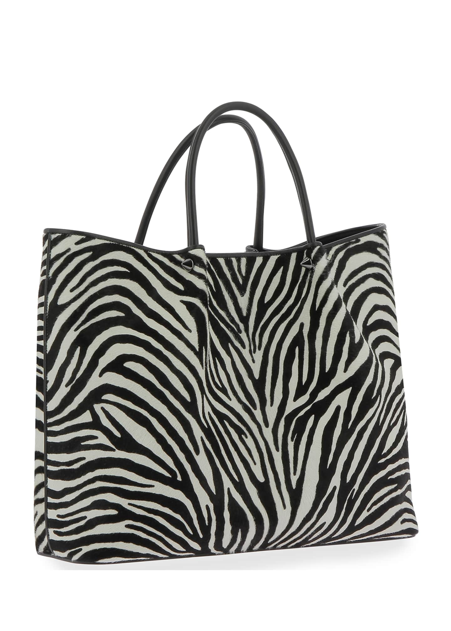 Image 2 of 2: Wilfred Animal-Print Fur Tote Bag