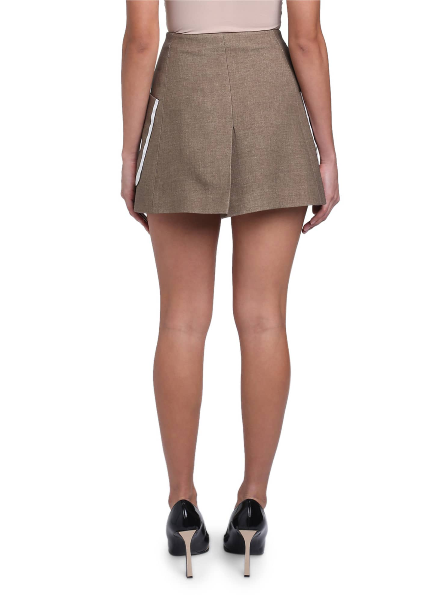 Image 3 of 4: Oversized-Pocket Mini Skirt