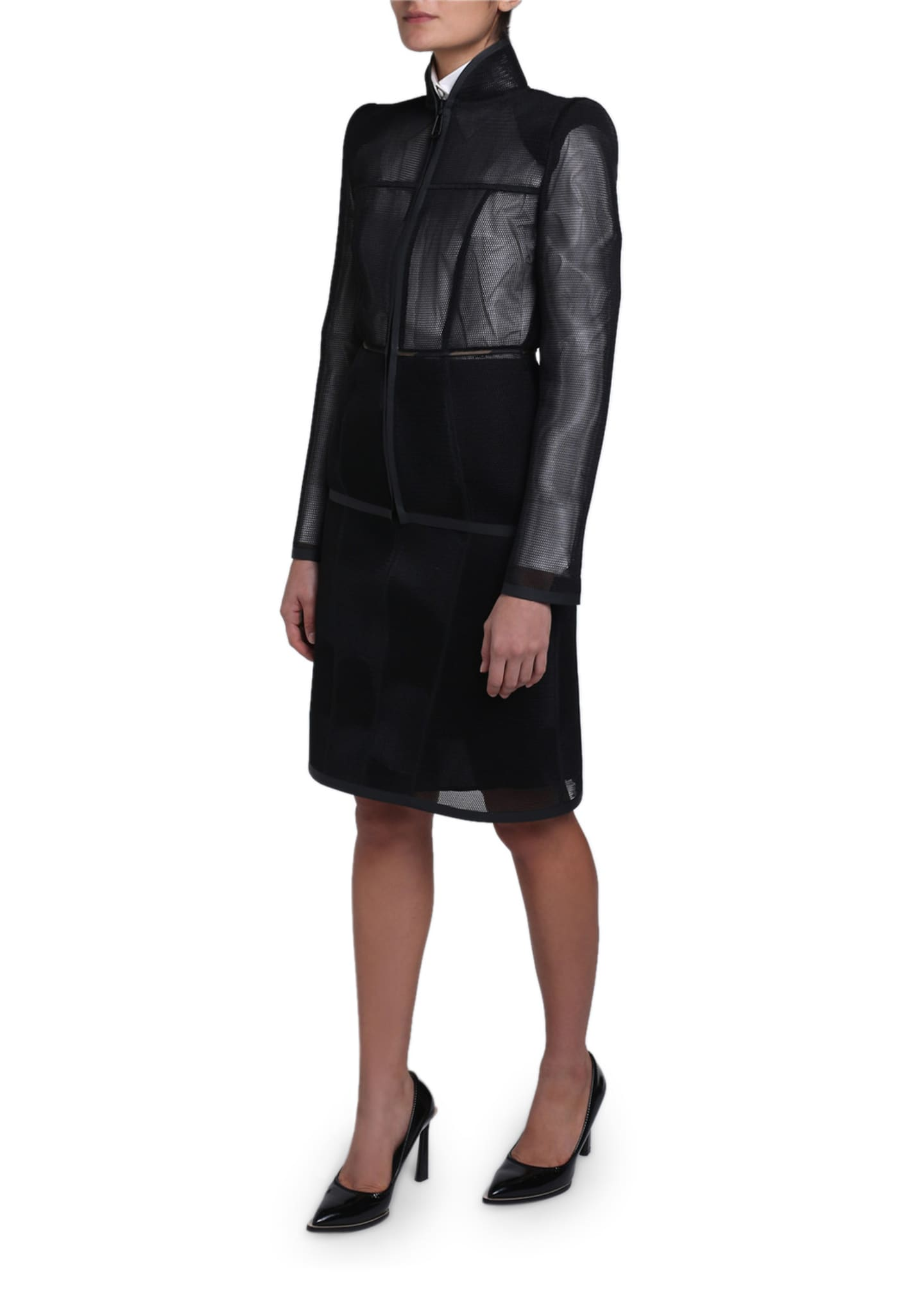 Image 2 of 4: Mesh Zip-Front Jacket