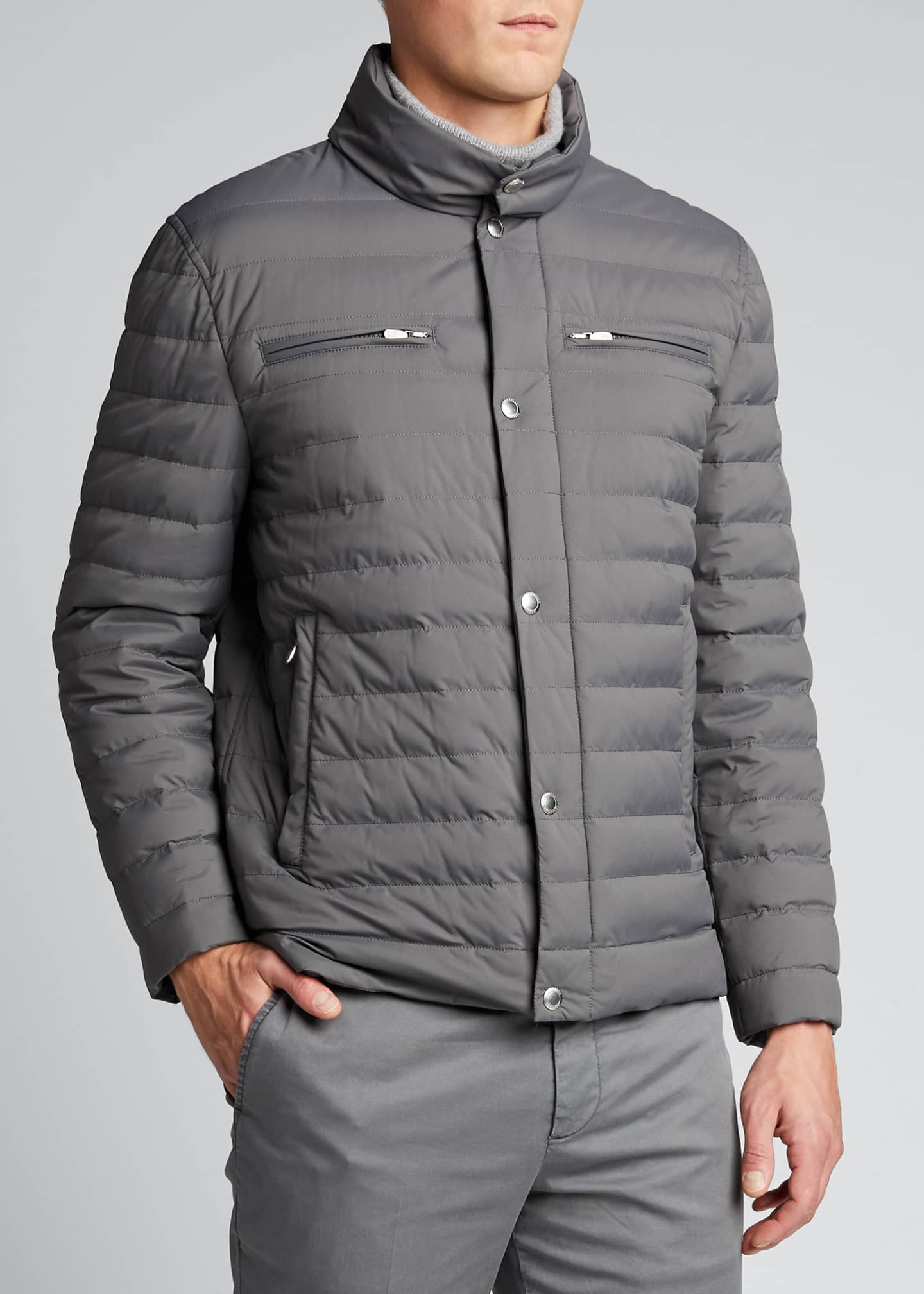 Image 3 of 5: Men's Lightweight Water-Resistant Down Jacket