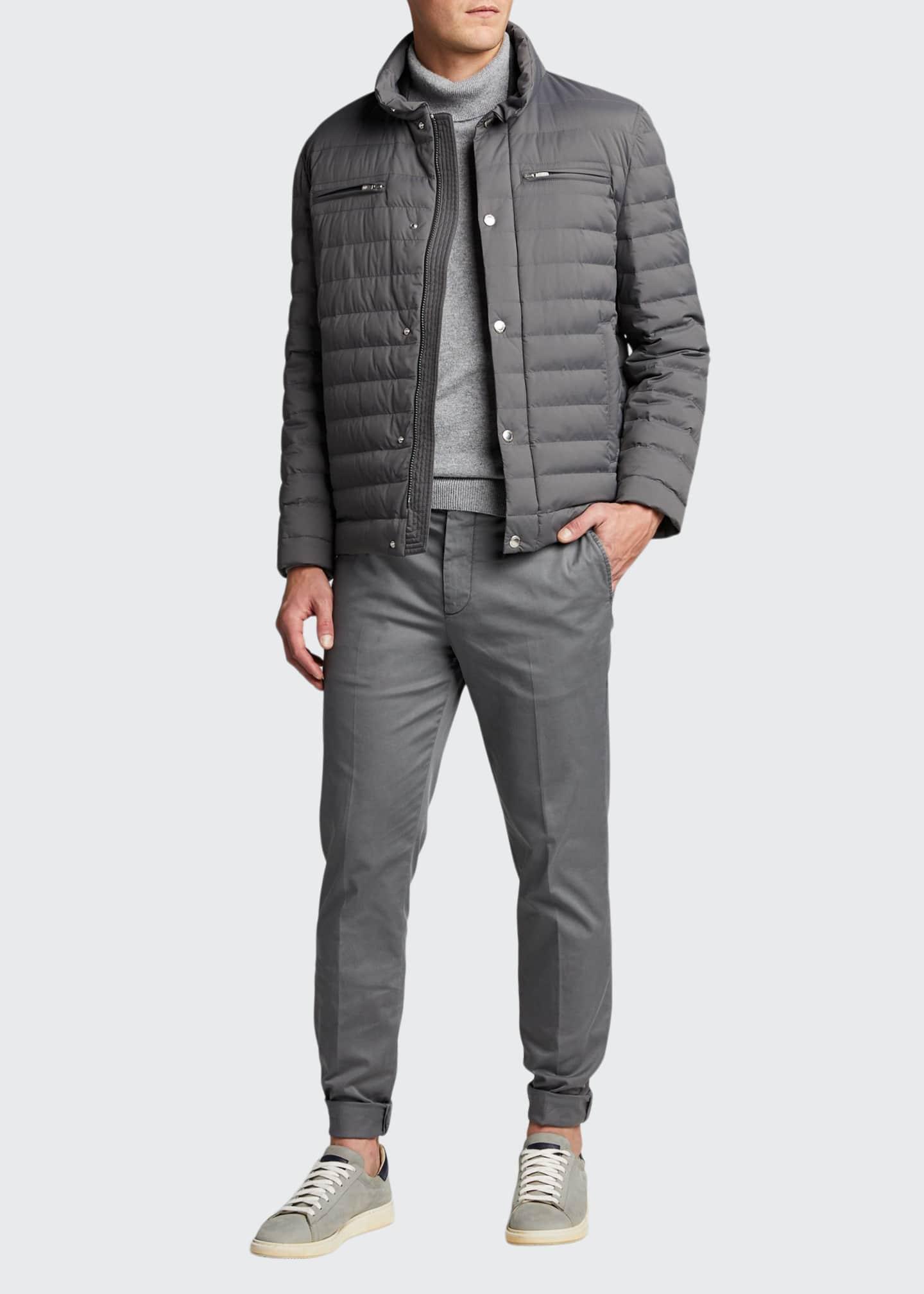 Brunello Cucinelli Men's Lightweight Water-Resistant Down Jacket