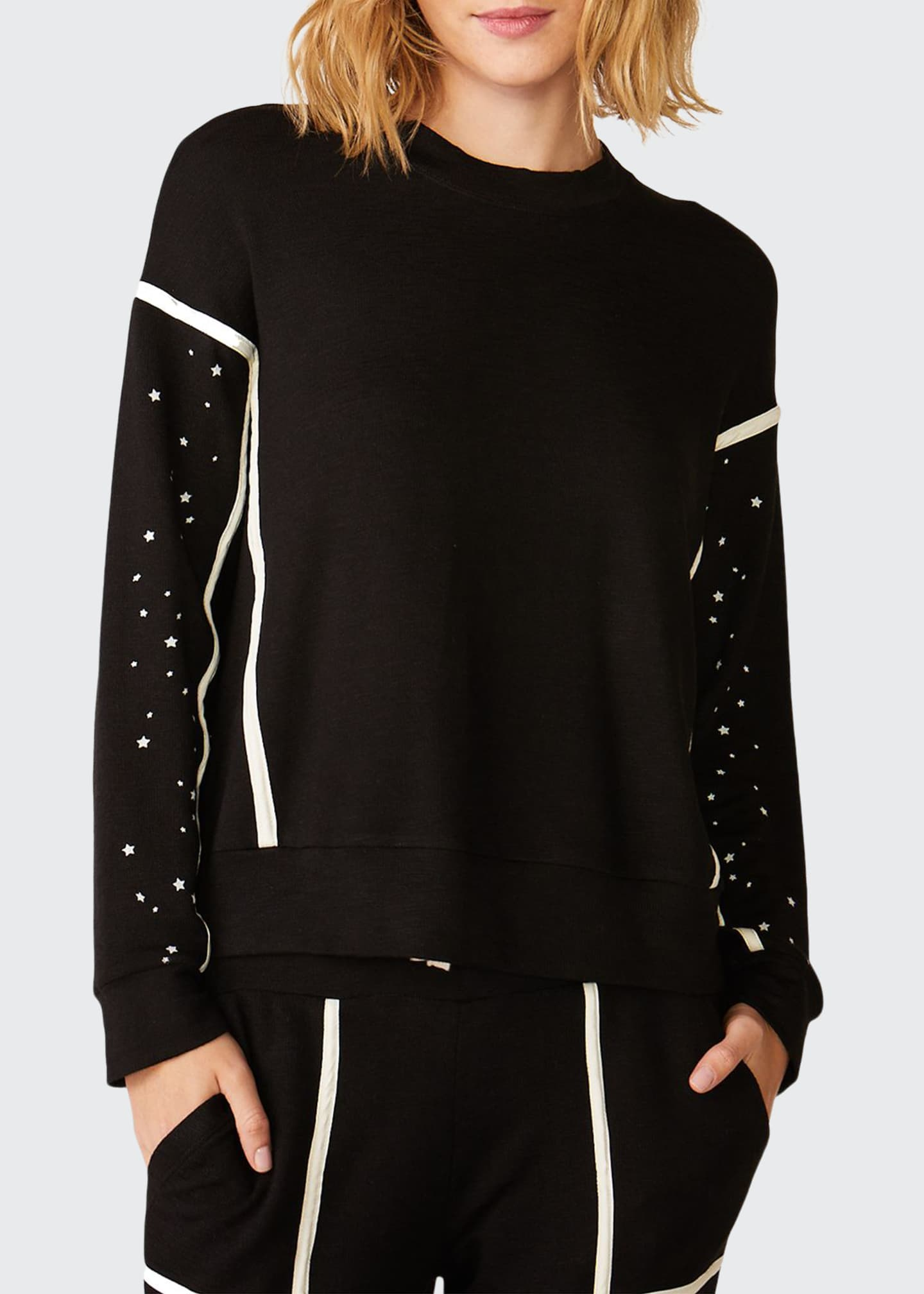 Monrow Super Soft Sweatshirt with Seamed Binding