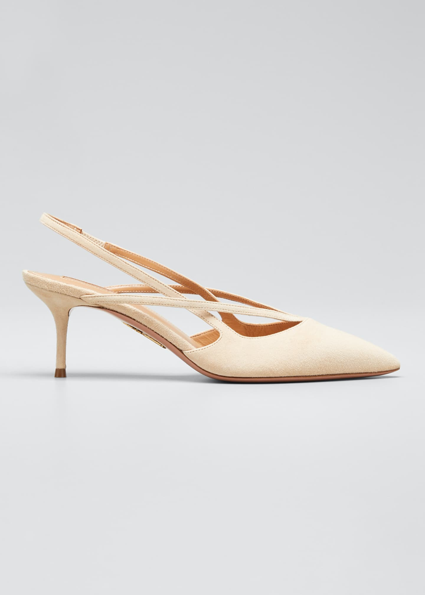 Aquazzura Soul Suede Pointed Pumps