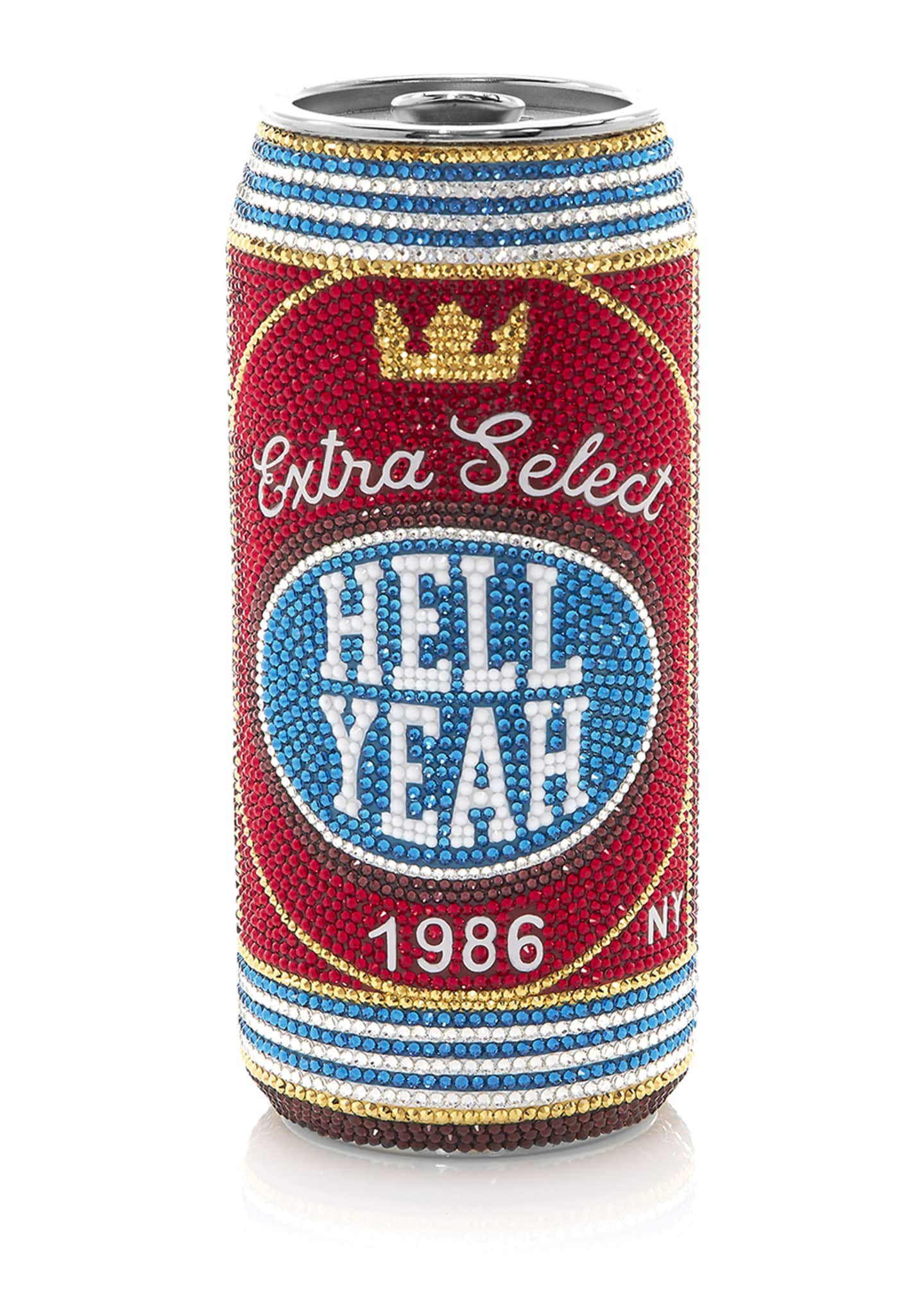 Judith Leiber Couture Hell Yeah Beverage Can Pill