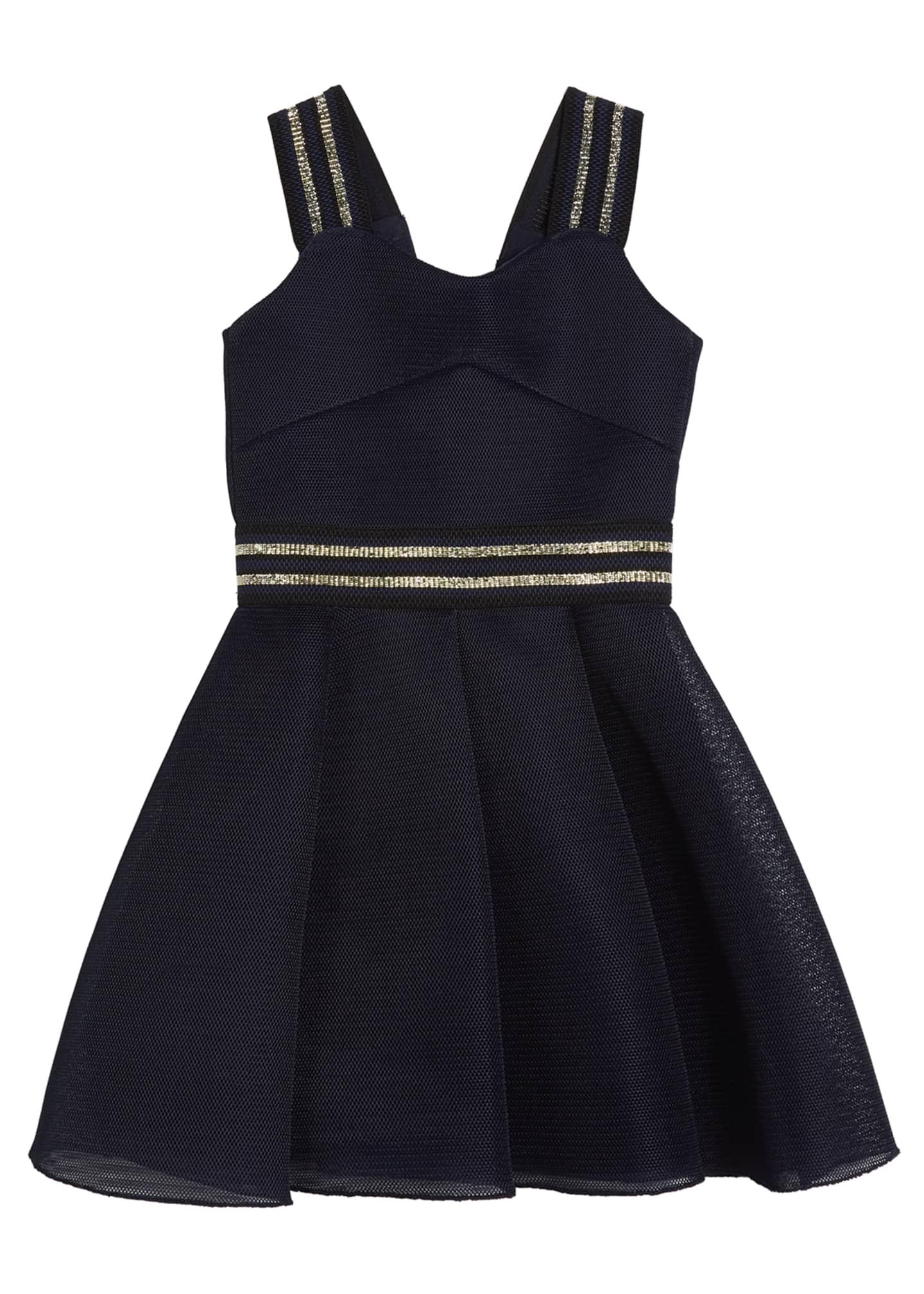 Zoe Hey Girl Swing Dress w/ Metallic Stripe