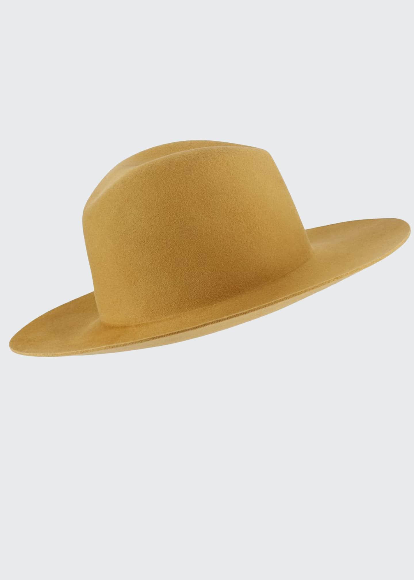 Janessa Leone Blair Wool Fedora Hat with Logo