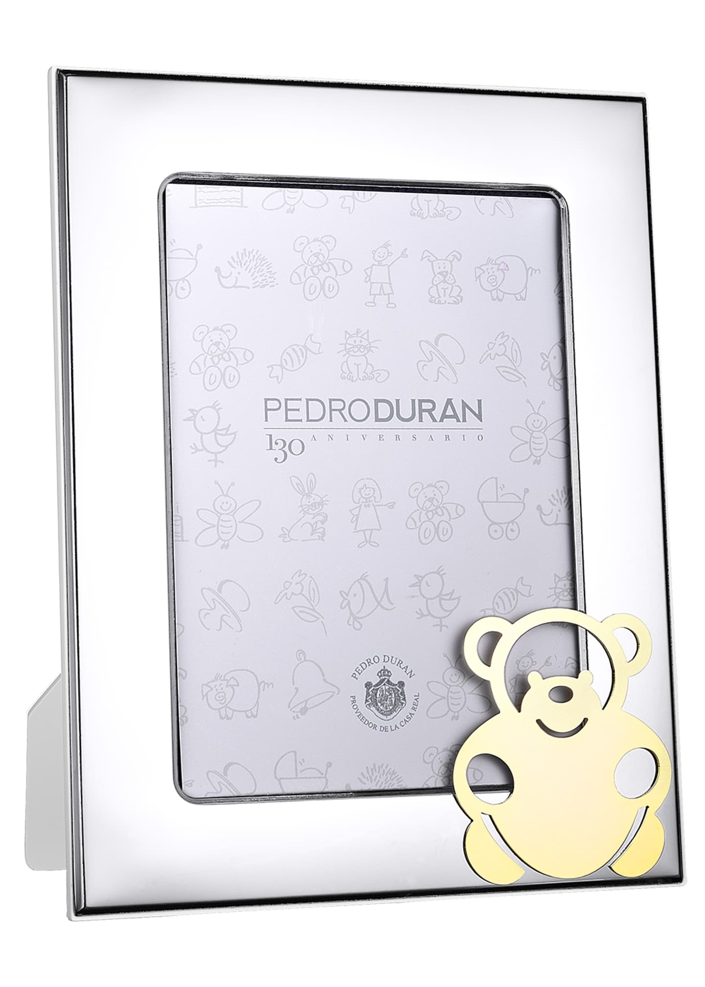 Pedro Duran Golden Tales Bear Picture Frame, 5