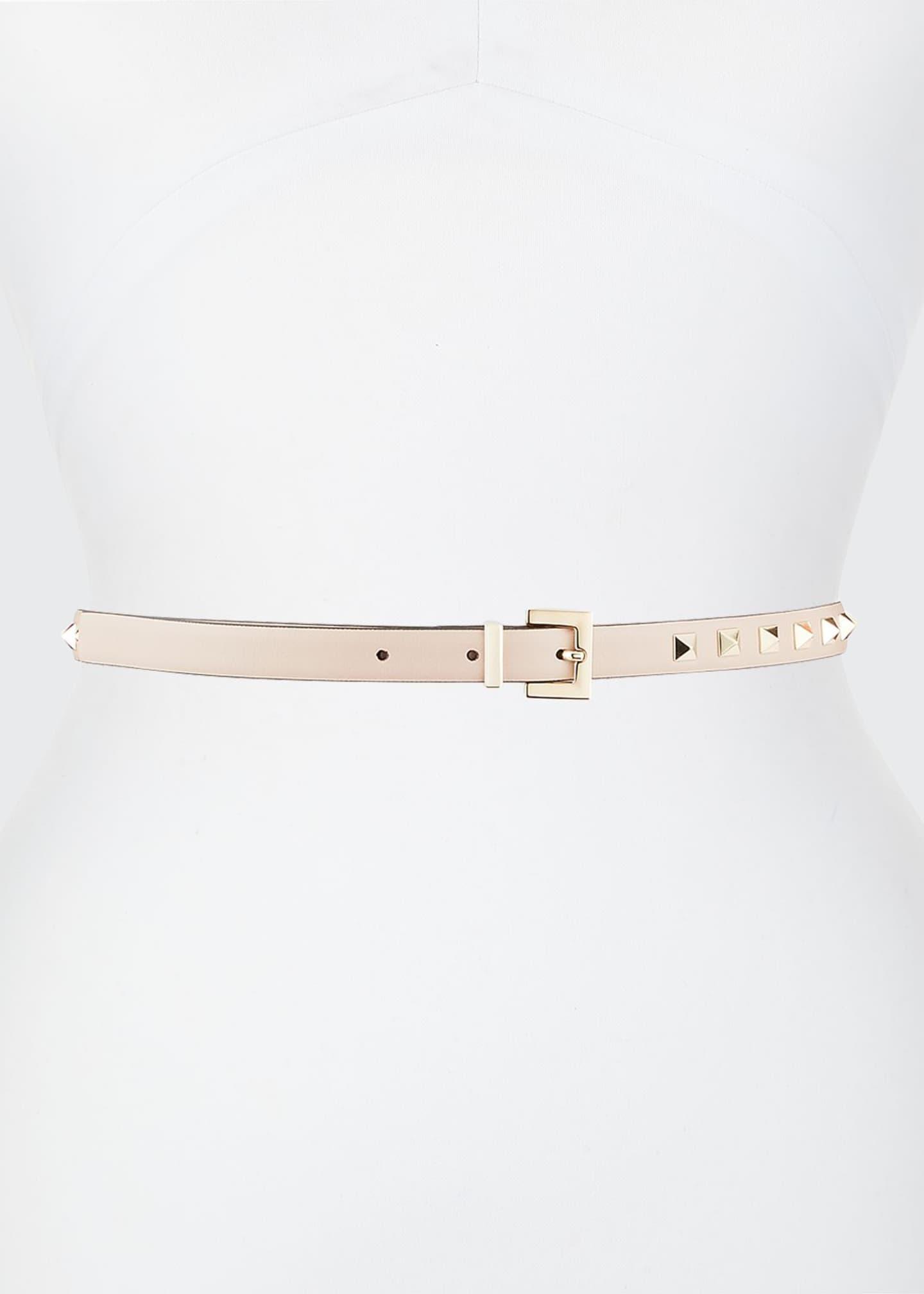 Rockstud Leather Belt by Valentino