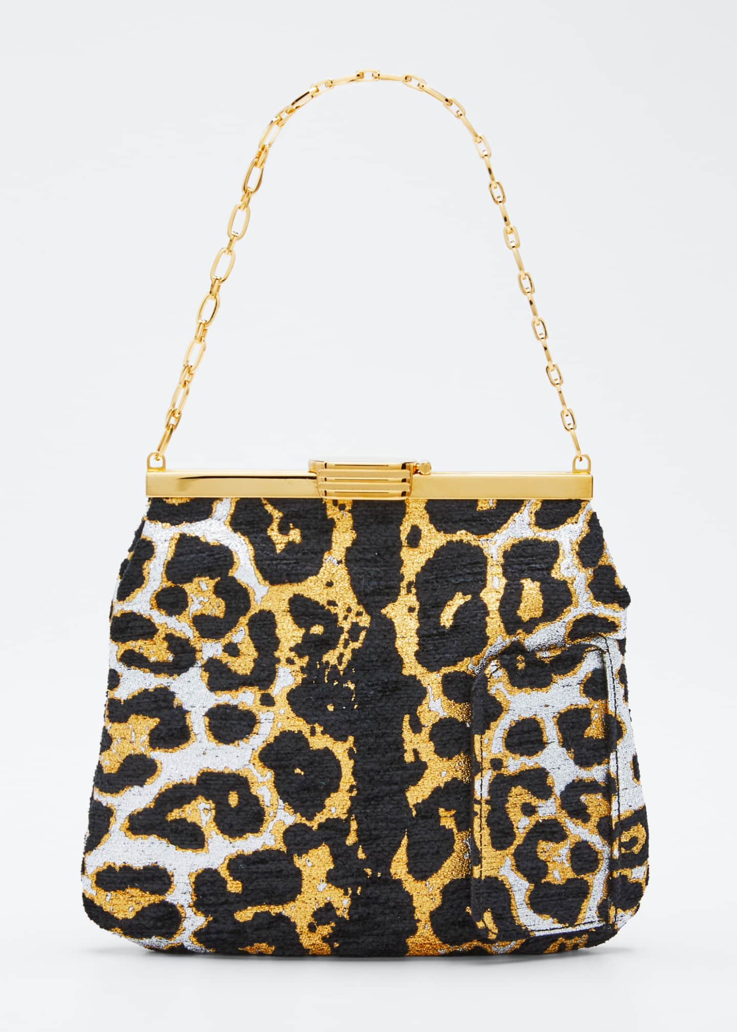 Bienen Davis Leopard Metallic Chenille Mini Clutch Bag