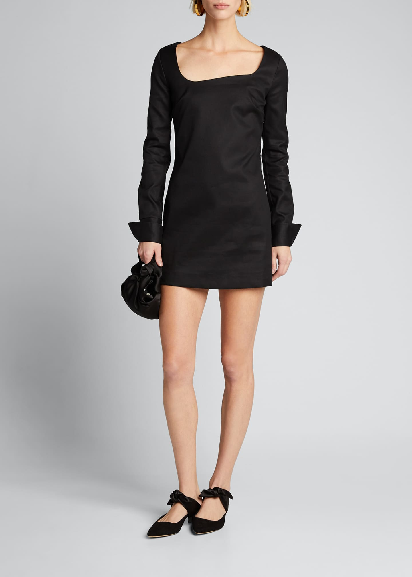 Coperni Fitted Tailored Cotton Dress
