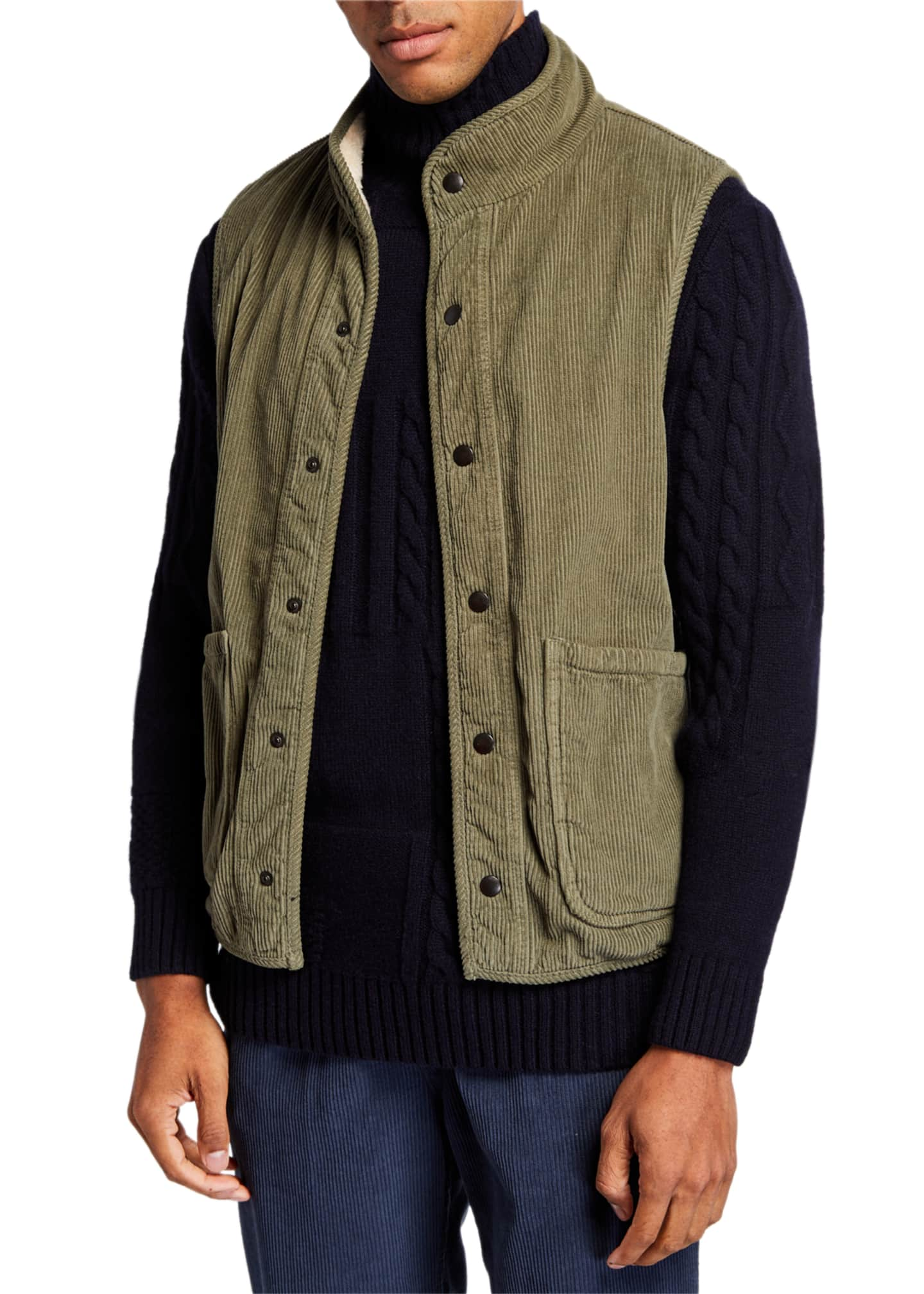 Image 4 of 4: Men's Sherpa-Lined Corduroy Vest