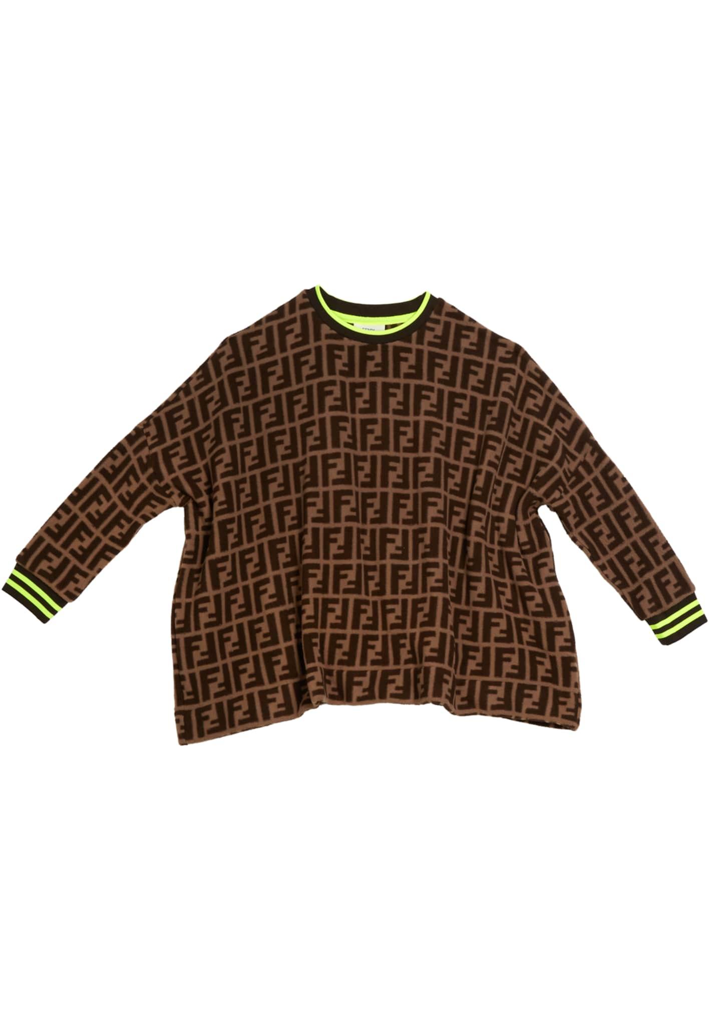 Fendi Allover FF-Print Sweater, Size 4-8
